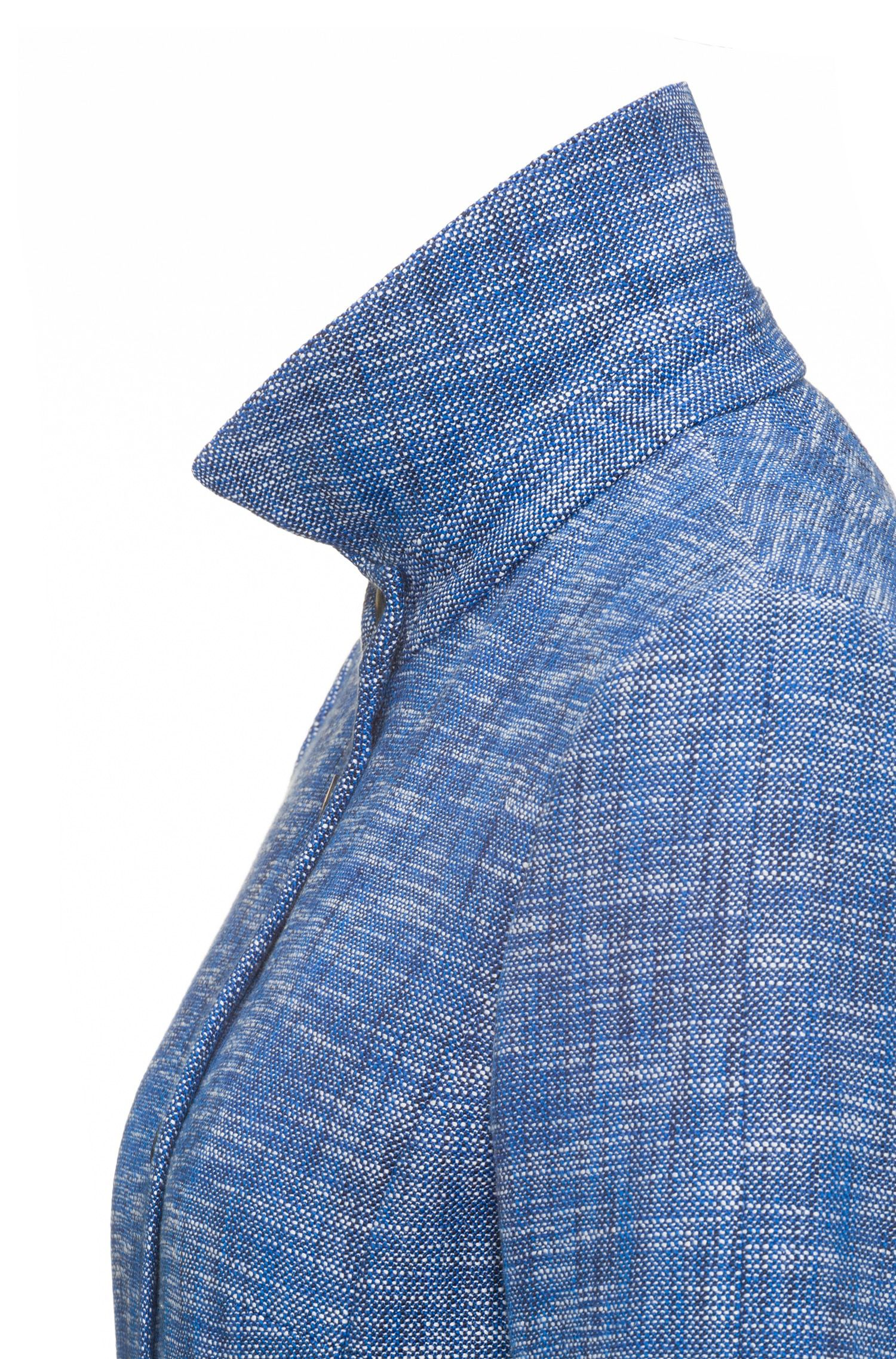 Giacca in tweed regular fit con chiusura a bottoni automatici