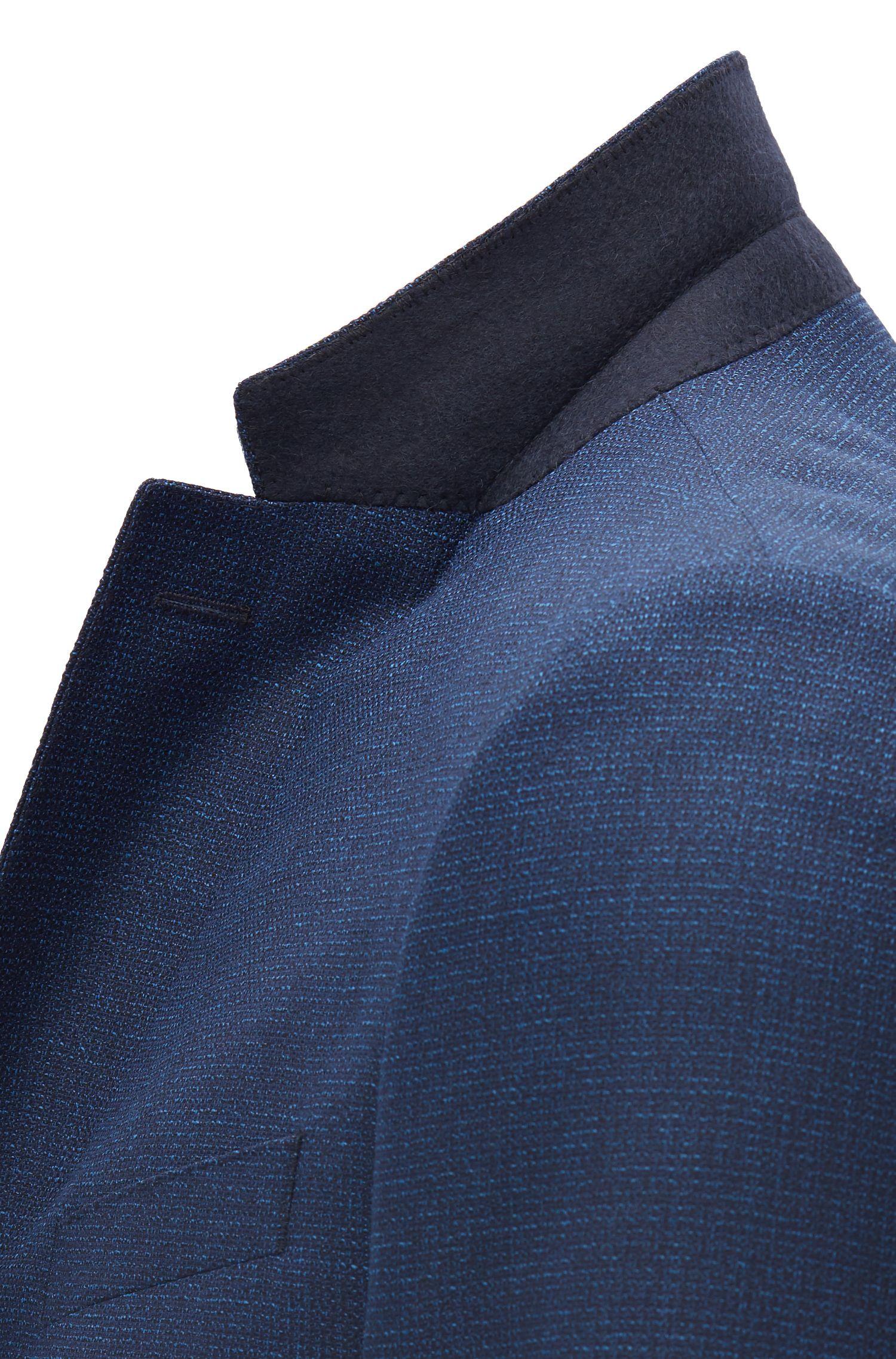 Traje slim fit en lana virgen con microestampado
