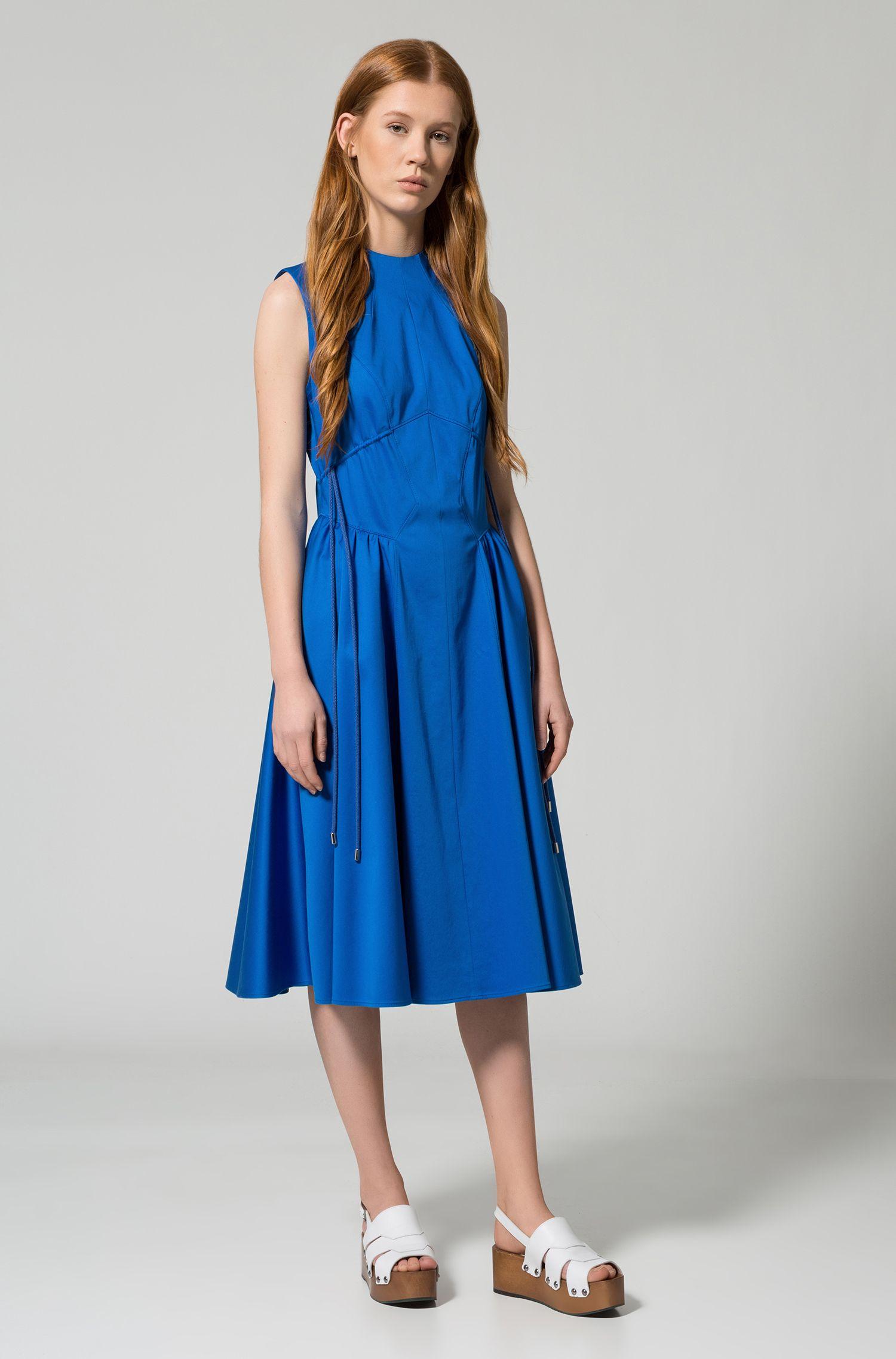 Hochgeschlossenes Kleid aus Stretch-Baumwolle