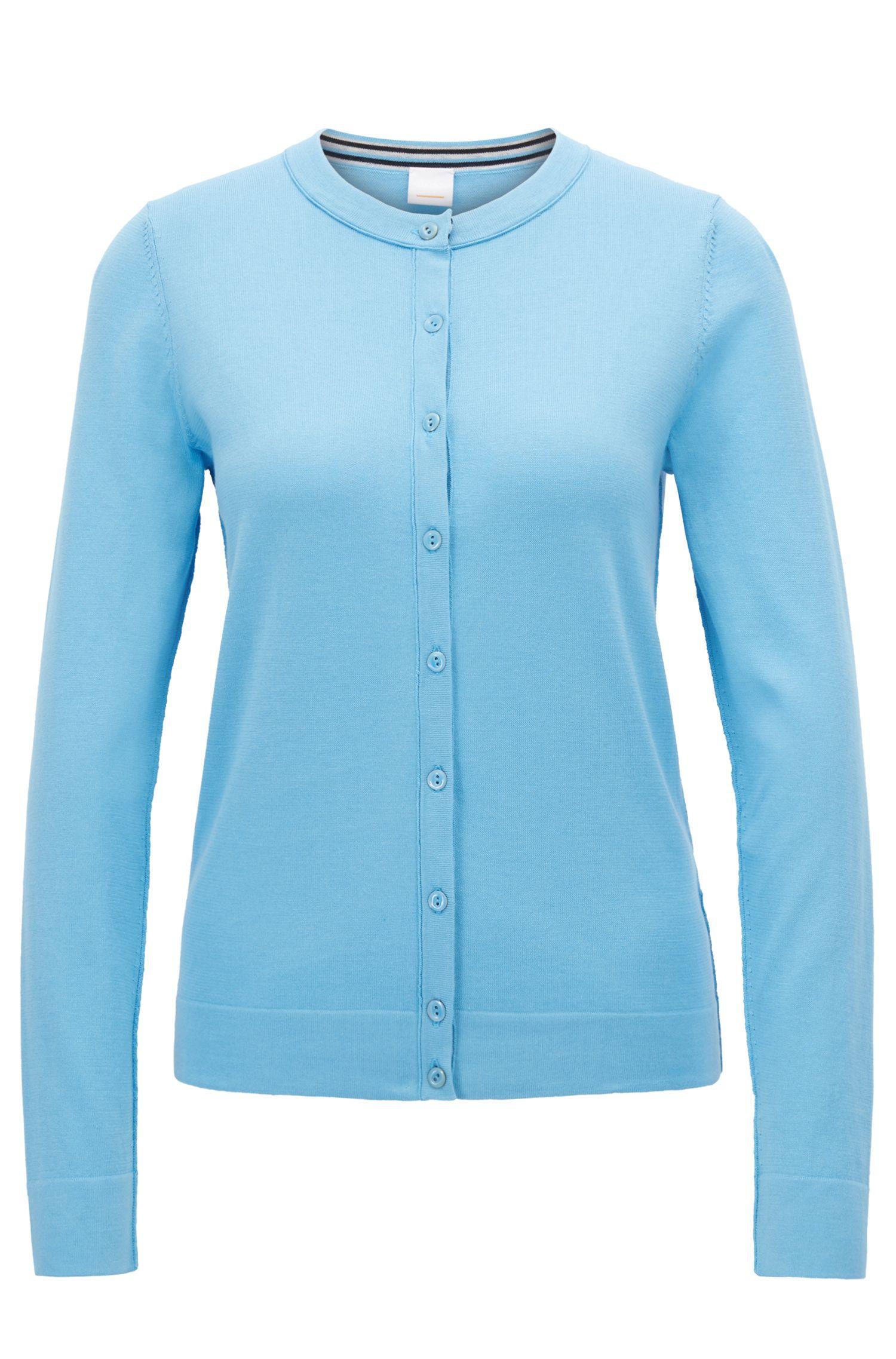 Cardigan in maglia in misto jersey di cotone