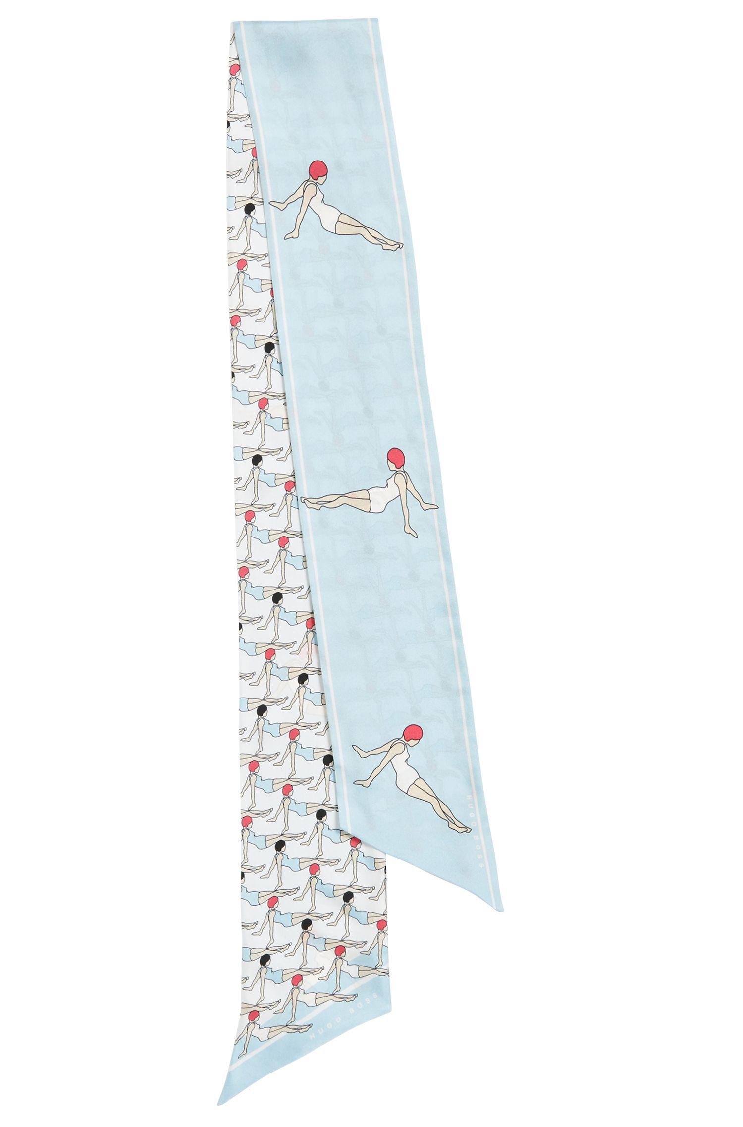 Halstuch aus Seide mit sommerlichem Print