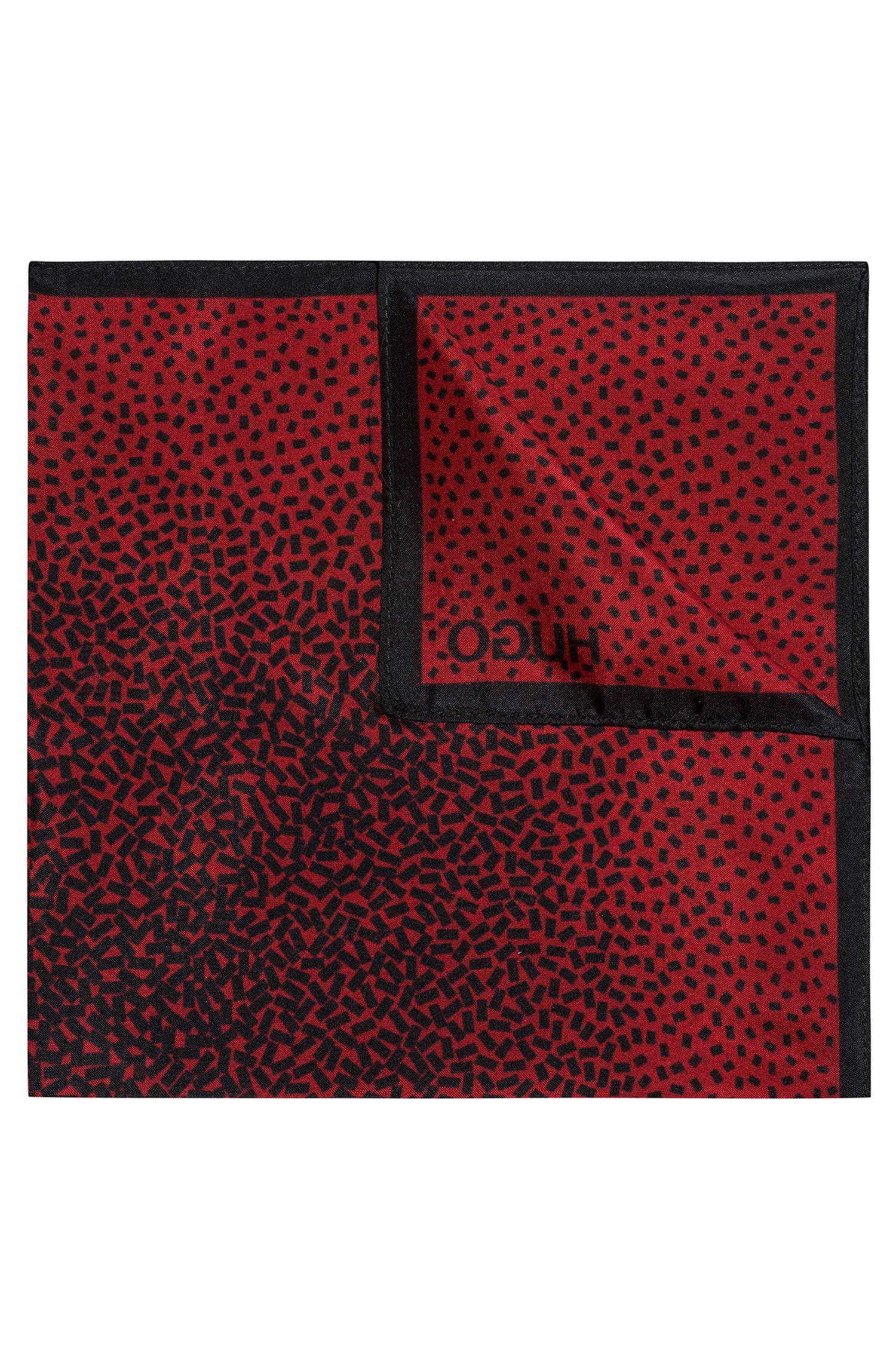 Einstecktuch aus Seiden-Chiffon mit geometrischem Muster