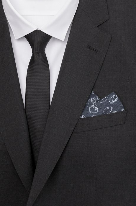 Graffiti-print pocket square in silk twill HUGO BOSS Clearance Inexpensive Outlet Where Can You Find RwCHFzex