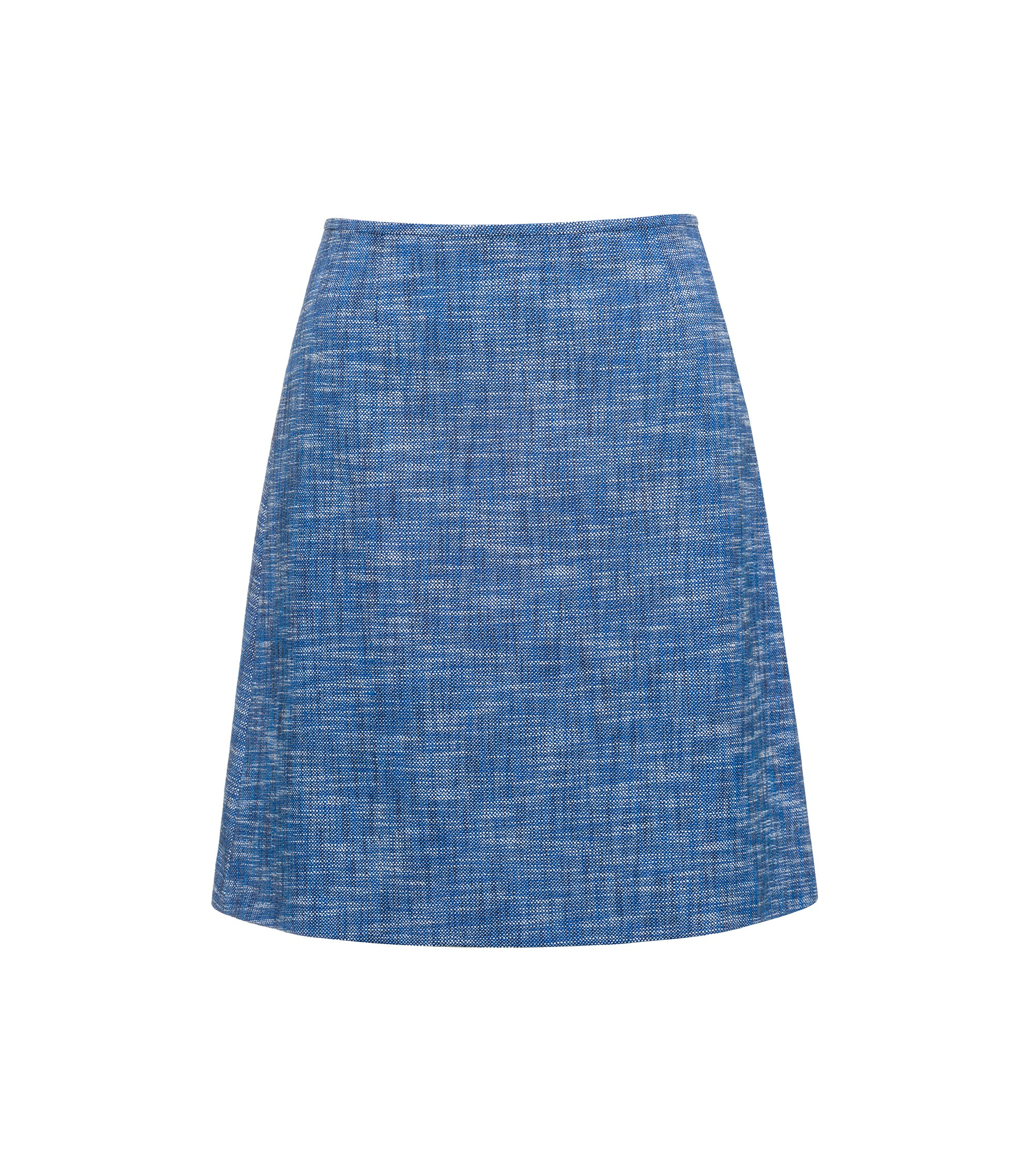 A-line skirt in cotton-blend tweed, Patterned
