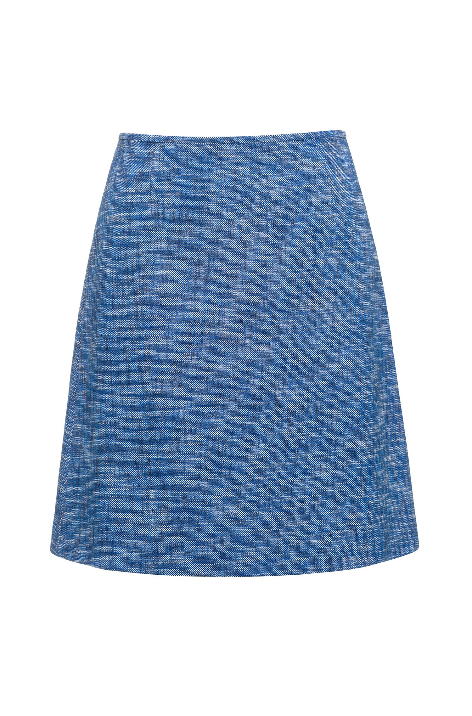 A-line skirt in cotton-blend tweed