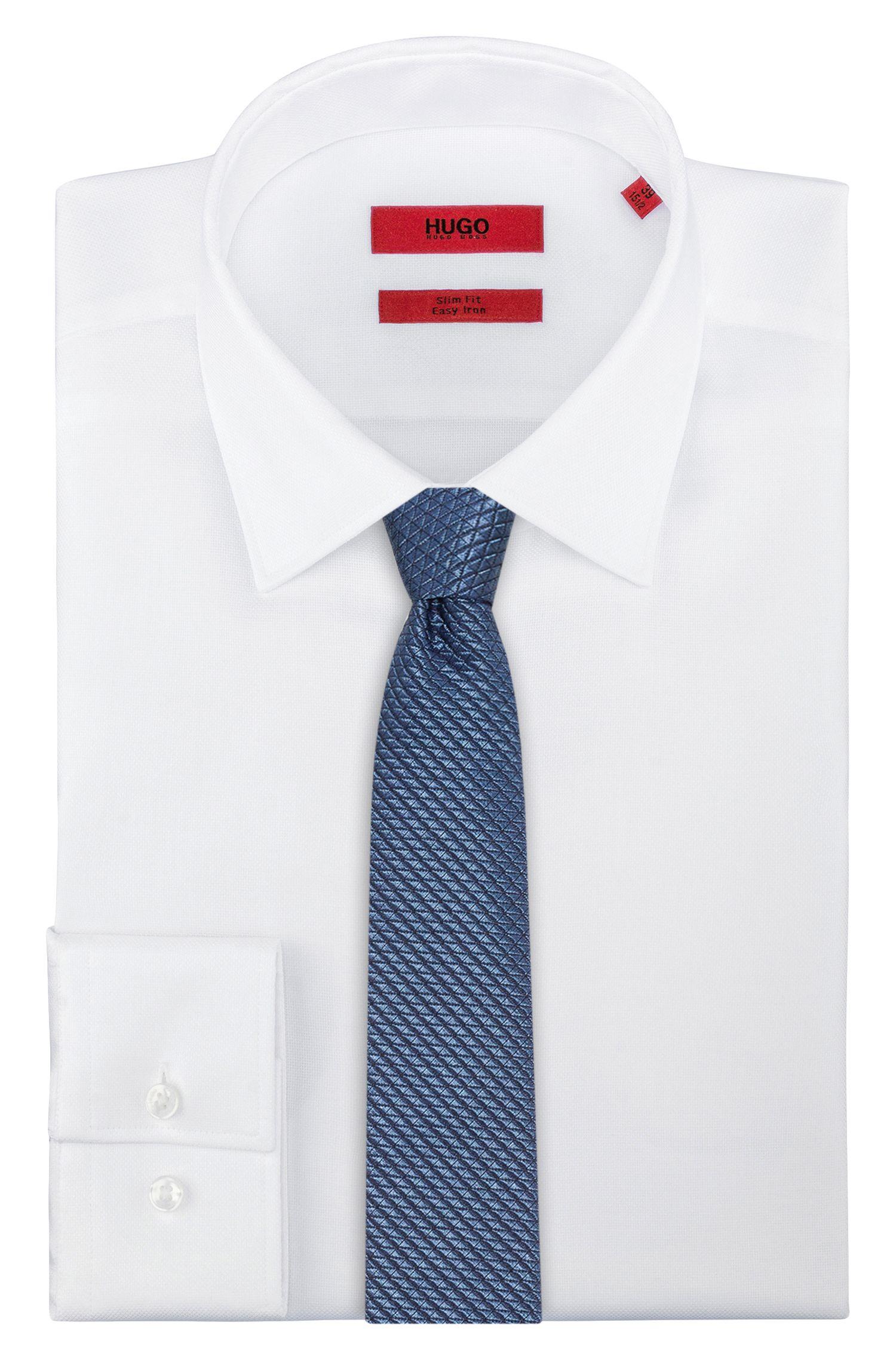 Cravate jacquard moderne en soie mélangée à teneur en stretch