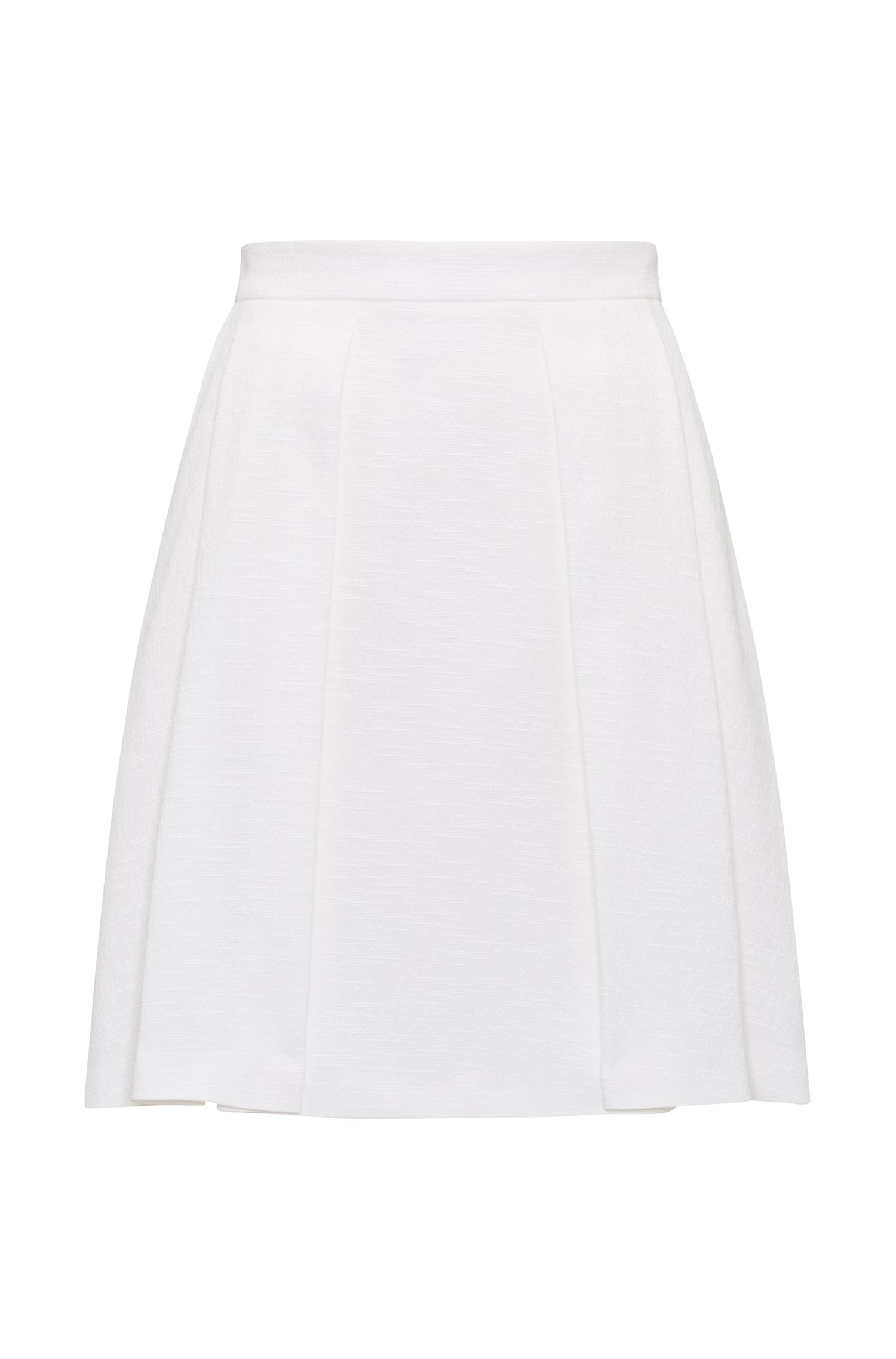 A-line pleated skirt in a cotton blend