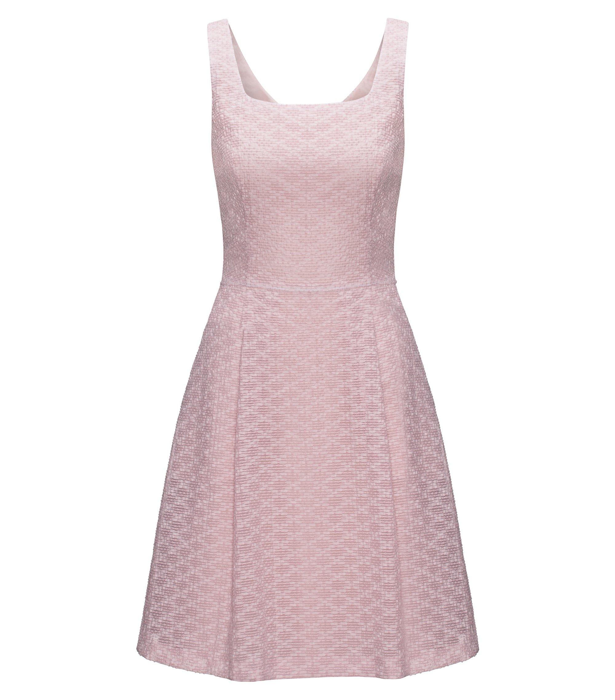 Kleid aus Baumwoll-Mix mit A-Linien-Rock, Hellrosa