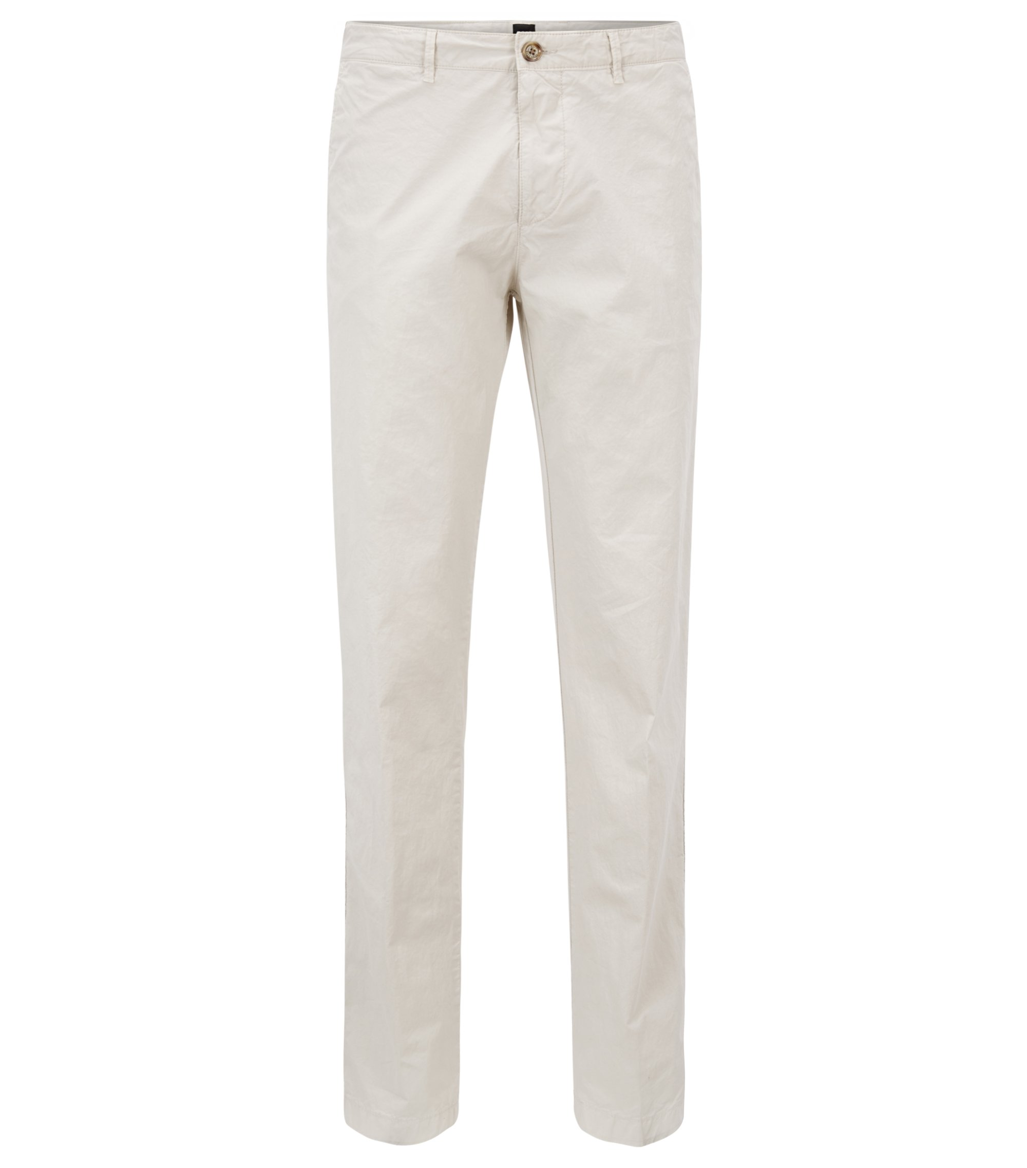 Regular-fit chinos in Italian stretch cotton, Natural