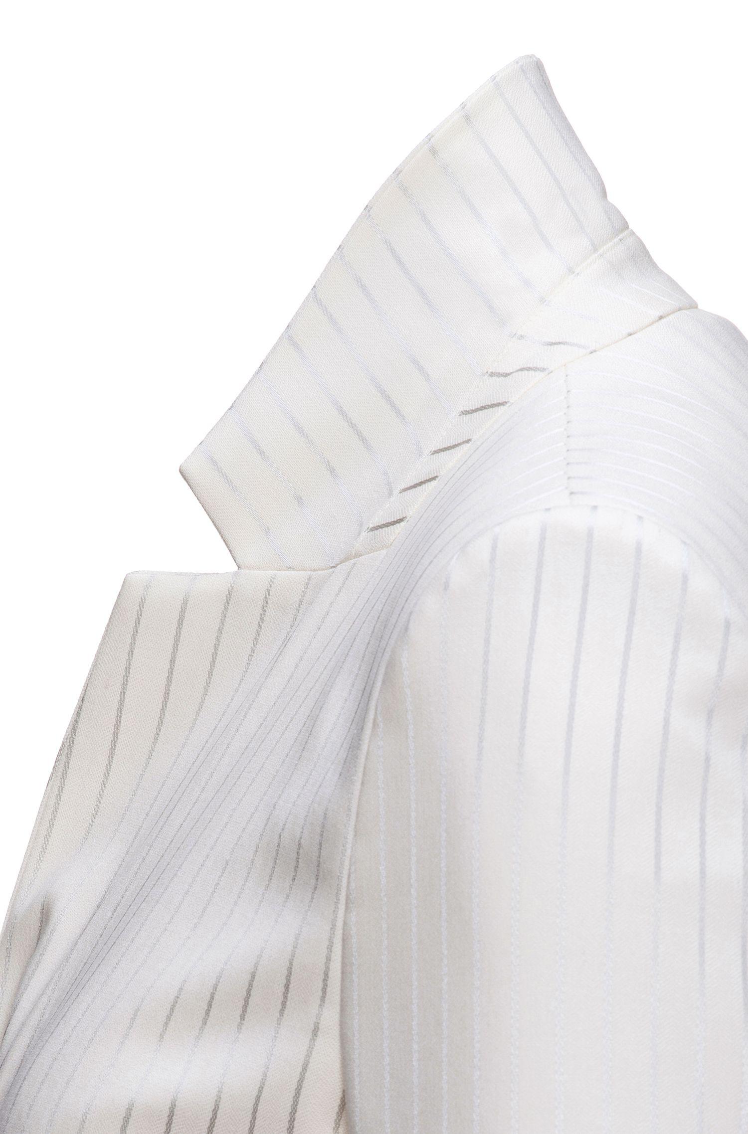 Regular-fit blazer met metallic krijtstrepen
