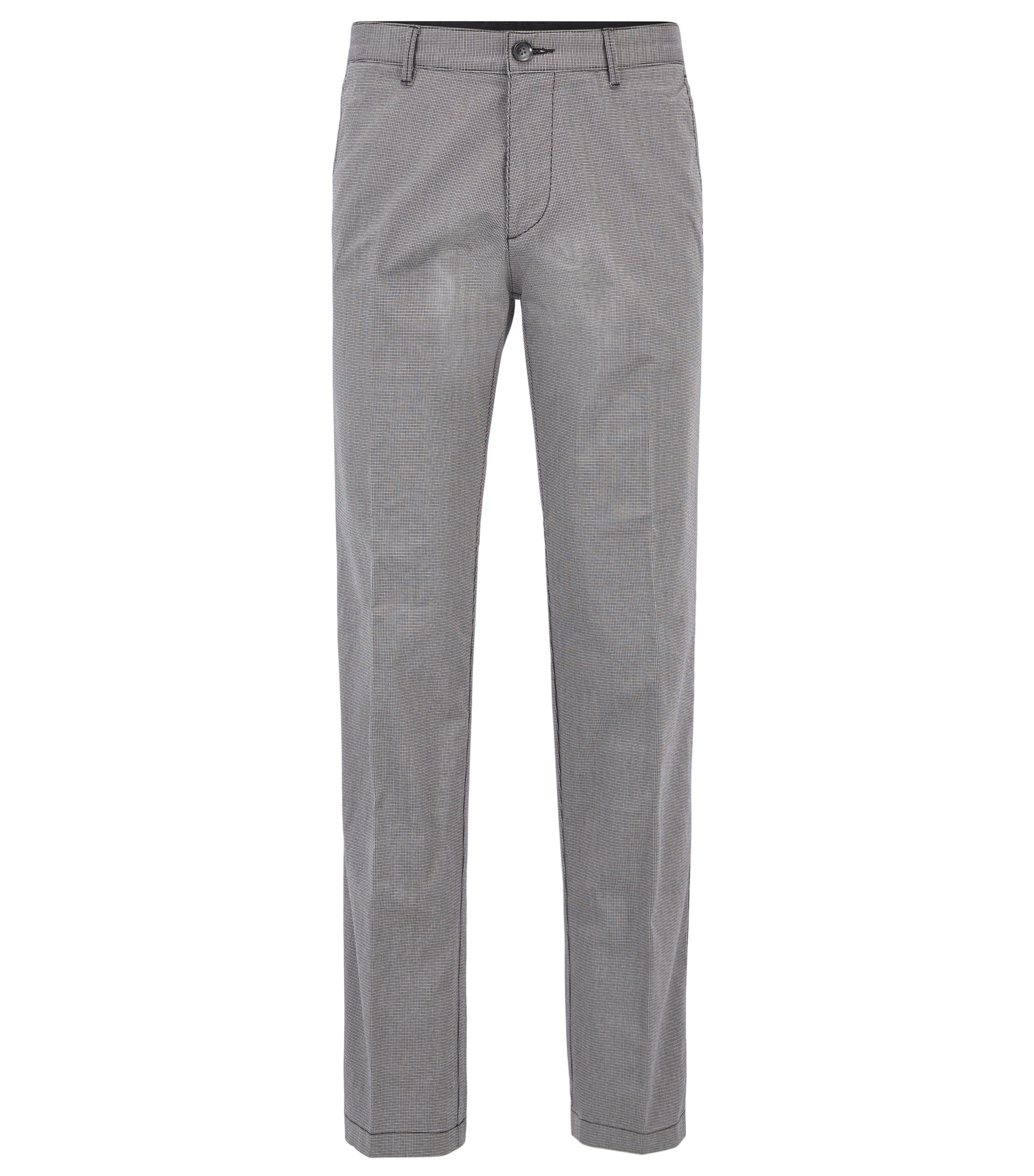 Regular-Fit Twill-Chino aus Stretch-Baumwolle, Grau
