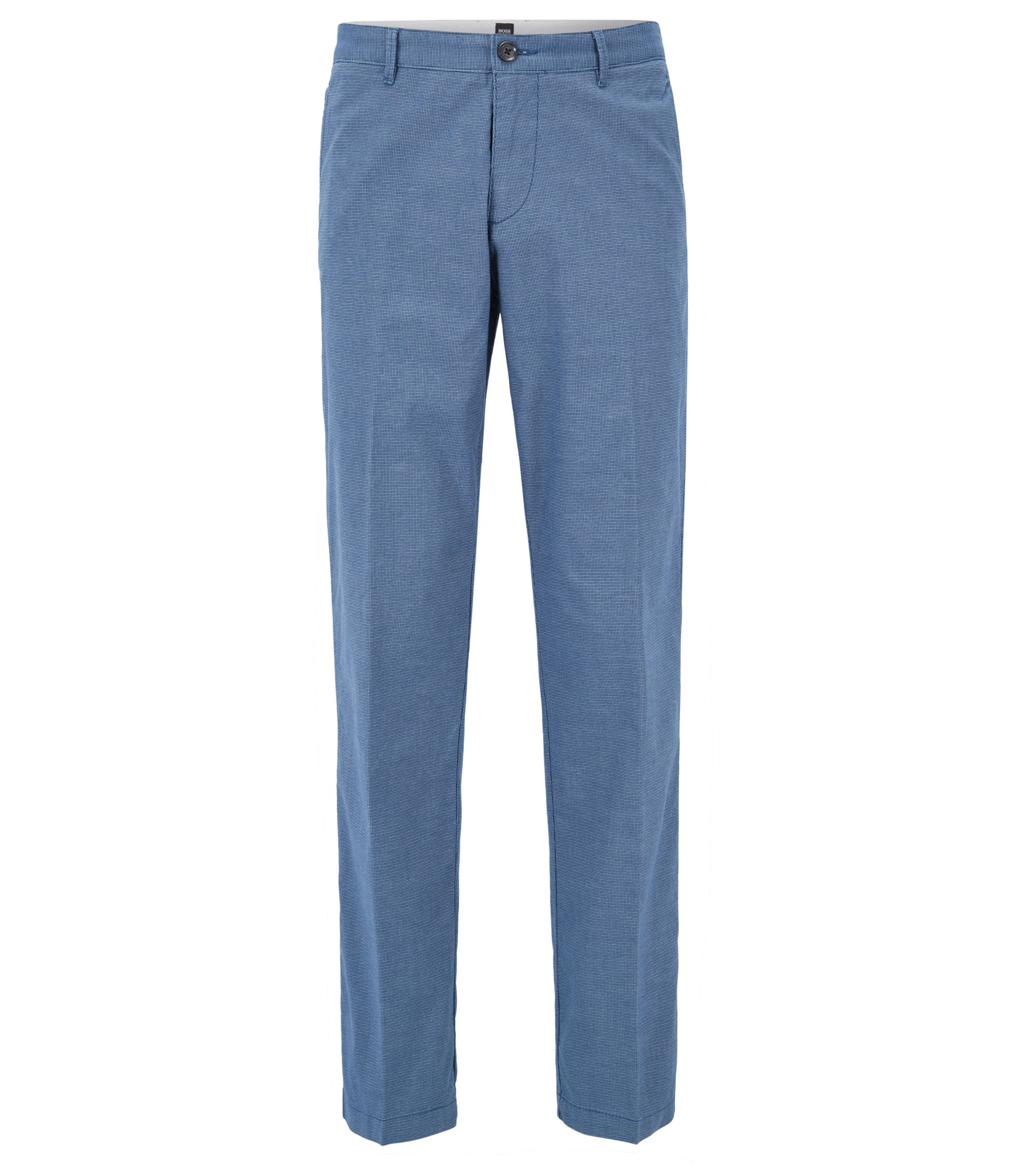 Regular-fit chinos in stretch-cotton twill, Blue