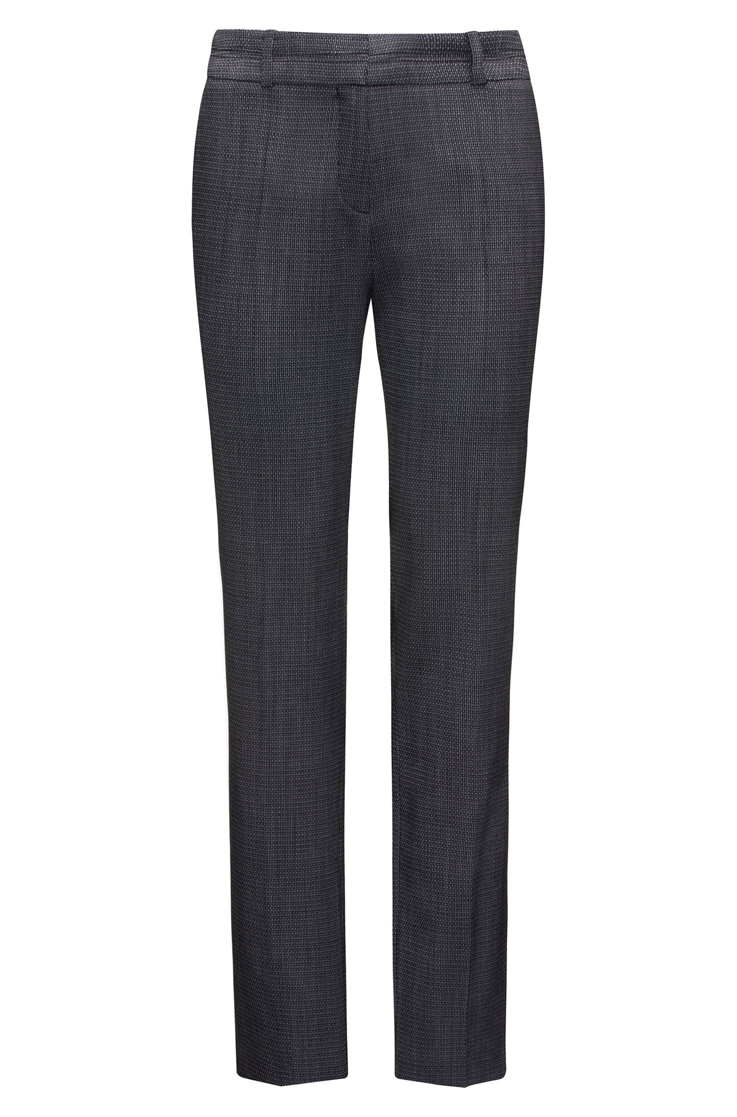 Regular-fit suit trousers in structured stretch wool