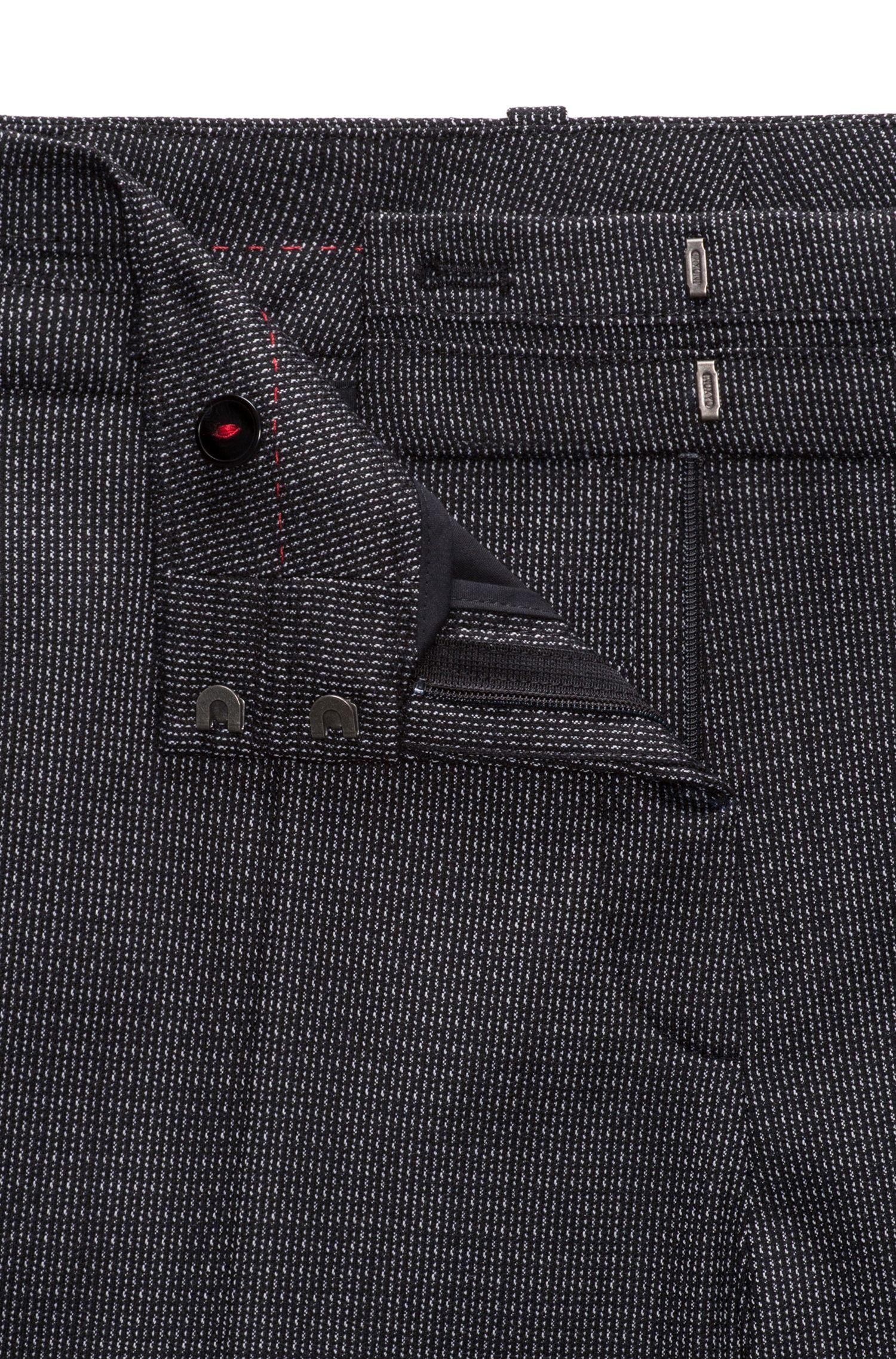 Pantalon de tailleur Regular Fit en laine stretch structurée