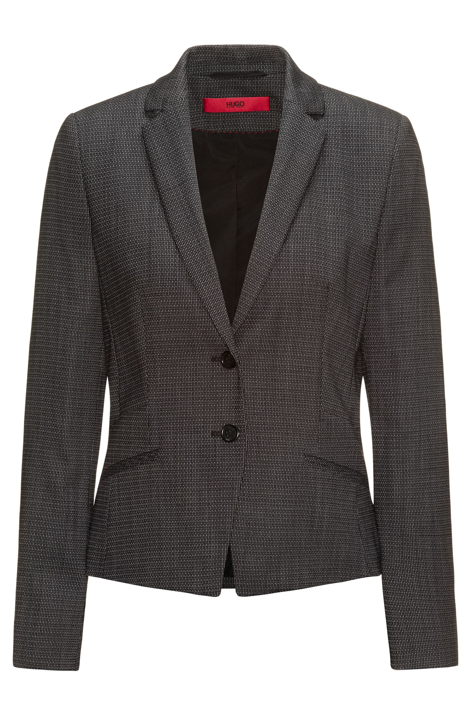 Veste de tailleur Regular Fit en laine stretch structurée