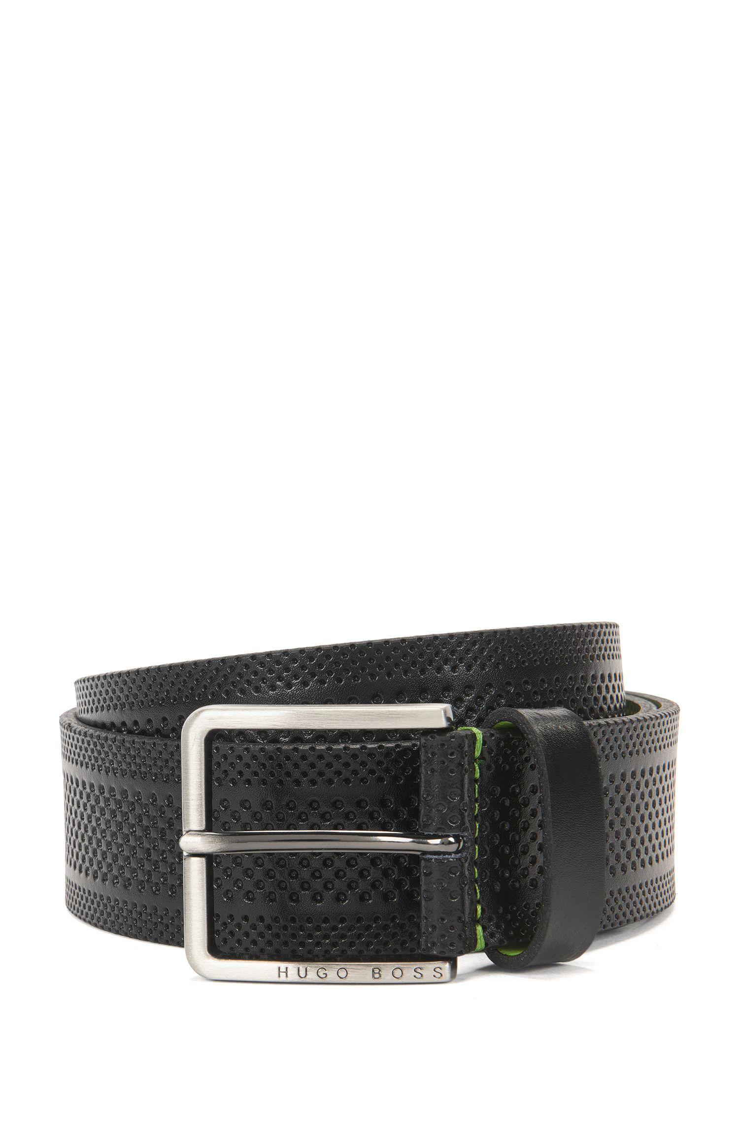 Cinturón casual de piel estampada