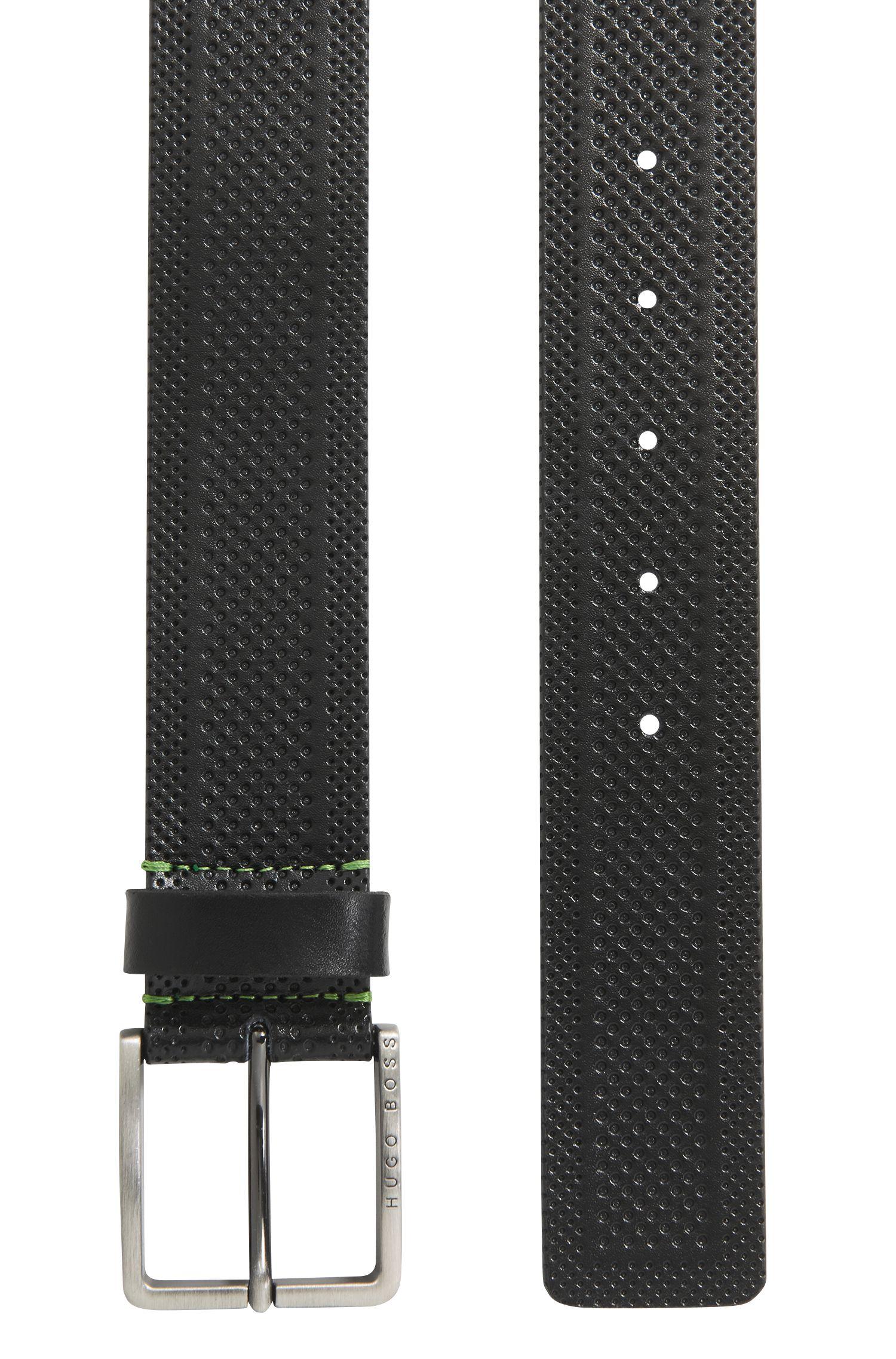 Casual-Gürtel aus geprägtem Leder