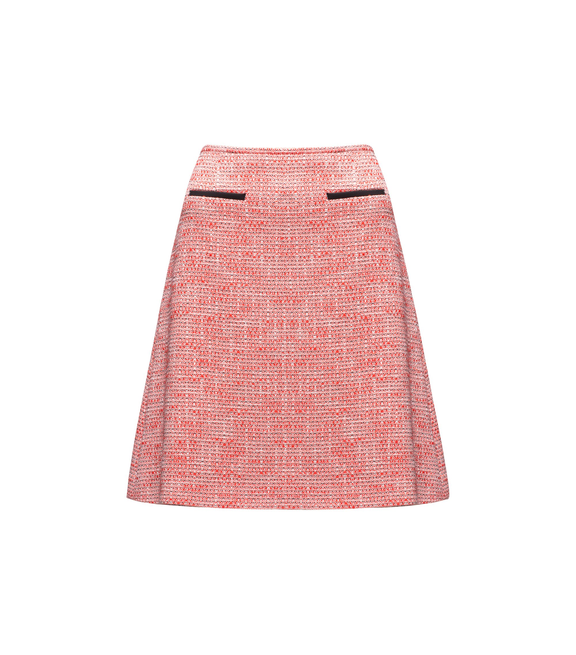 A-line tweed skirt in a cotton blend, Patterned