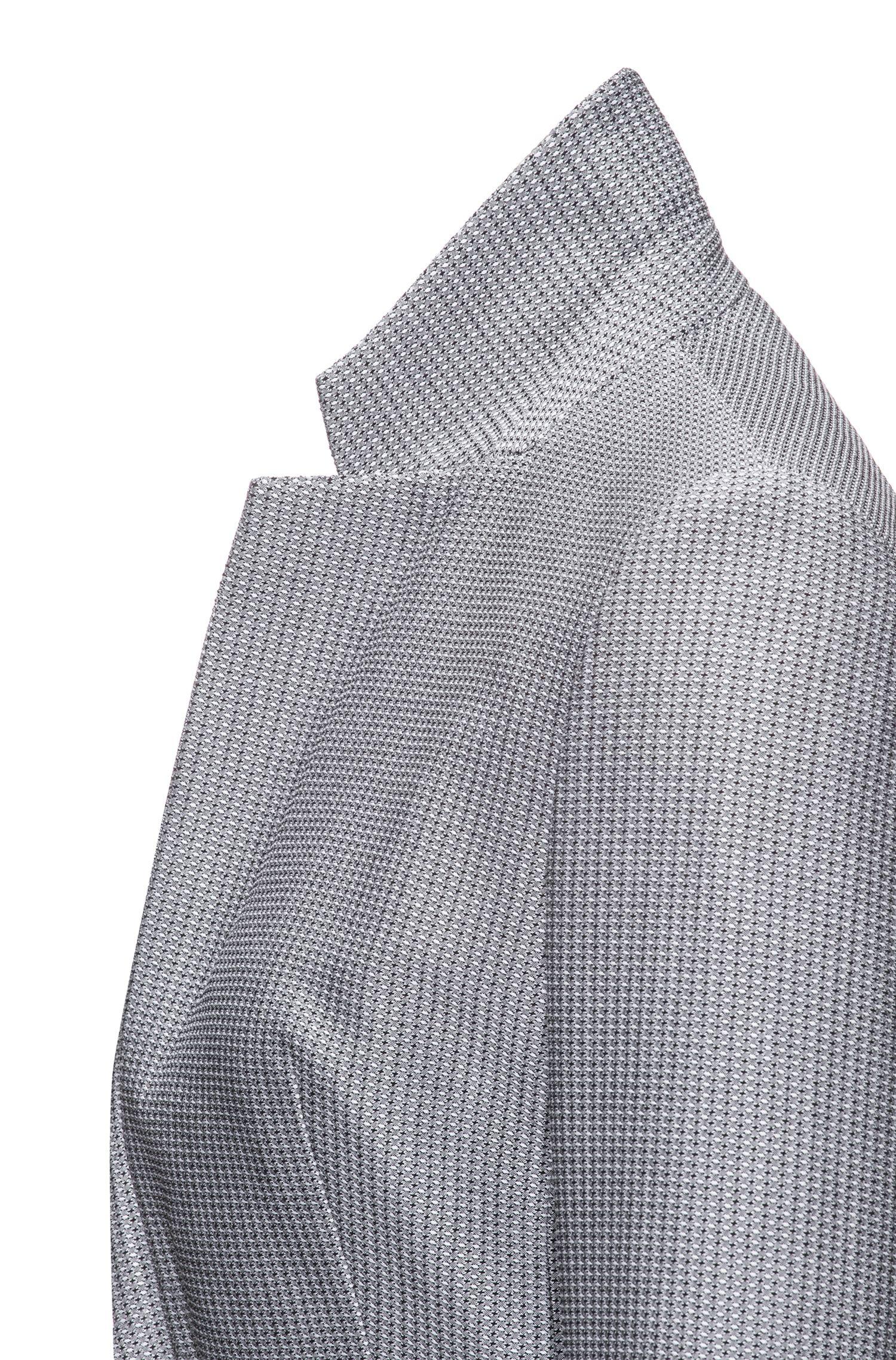 Slim-fit blazer van garengeverfd stretchmateriaal