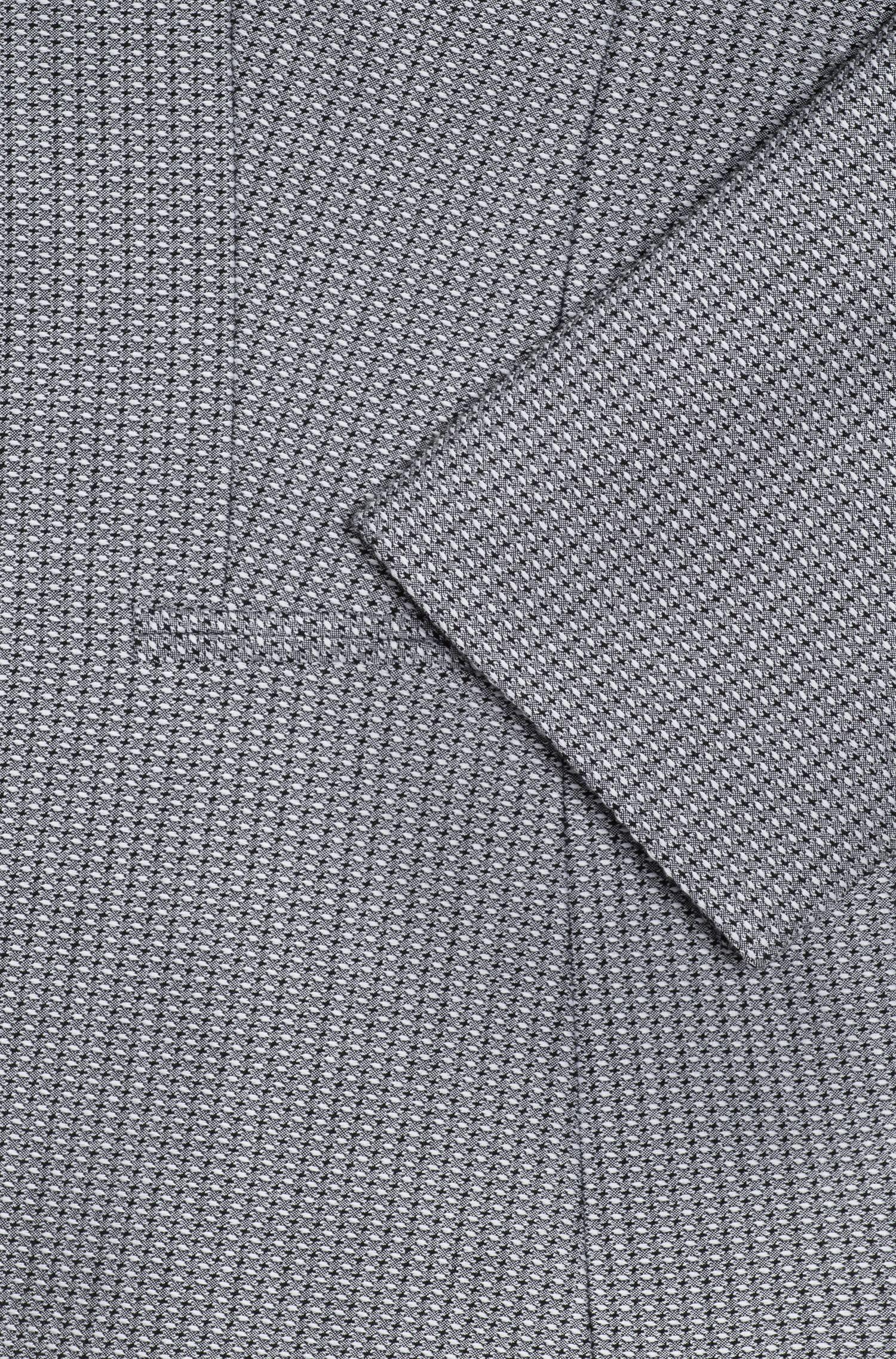 Giacca slim fit in tessuto elastico tinto in filo