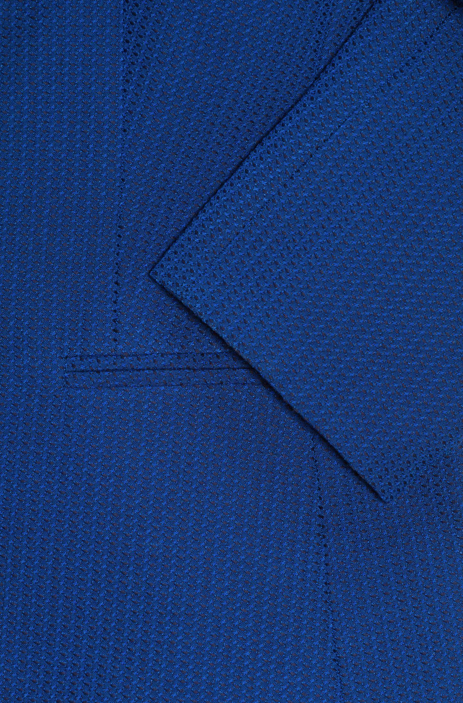 Veste Slim Fit en tissu stretch tissé-teint