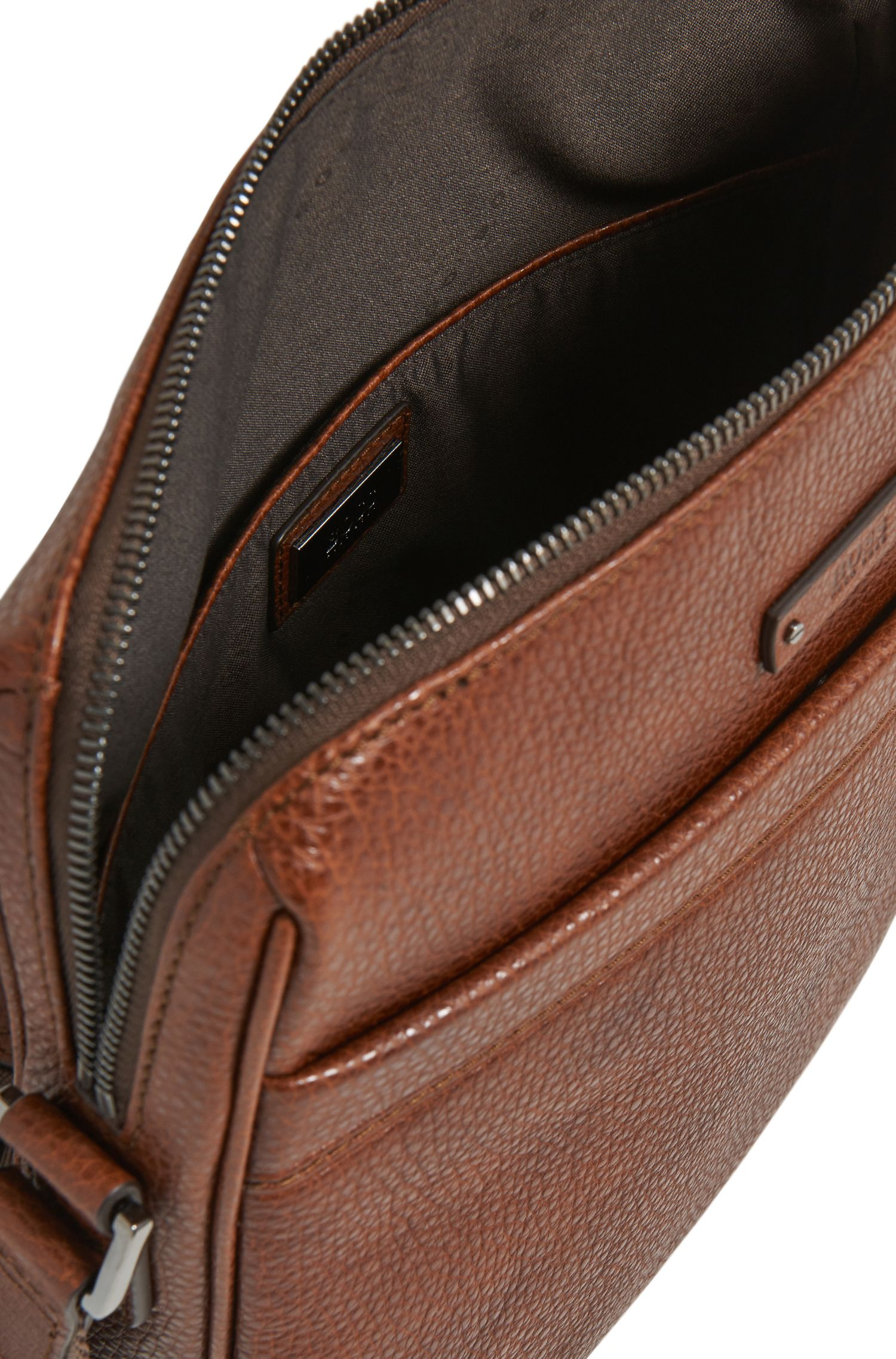Reporter-Tasche aus geprägtem italienischem Leder