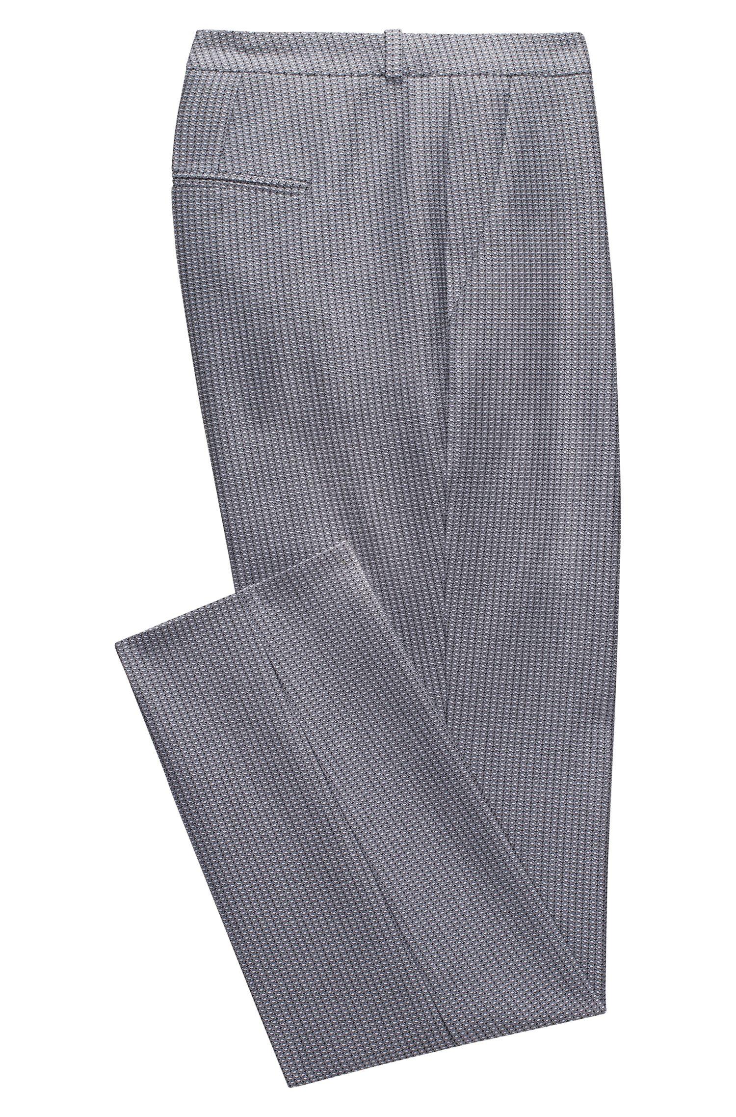 Regular-fit cigarette pants in materiaal van gemiddeld gewicht