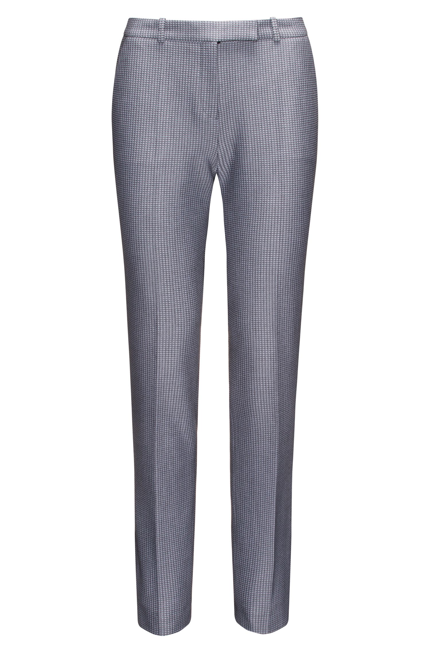Regular-fit cigarette trousers in midweight fabric