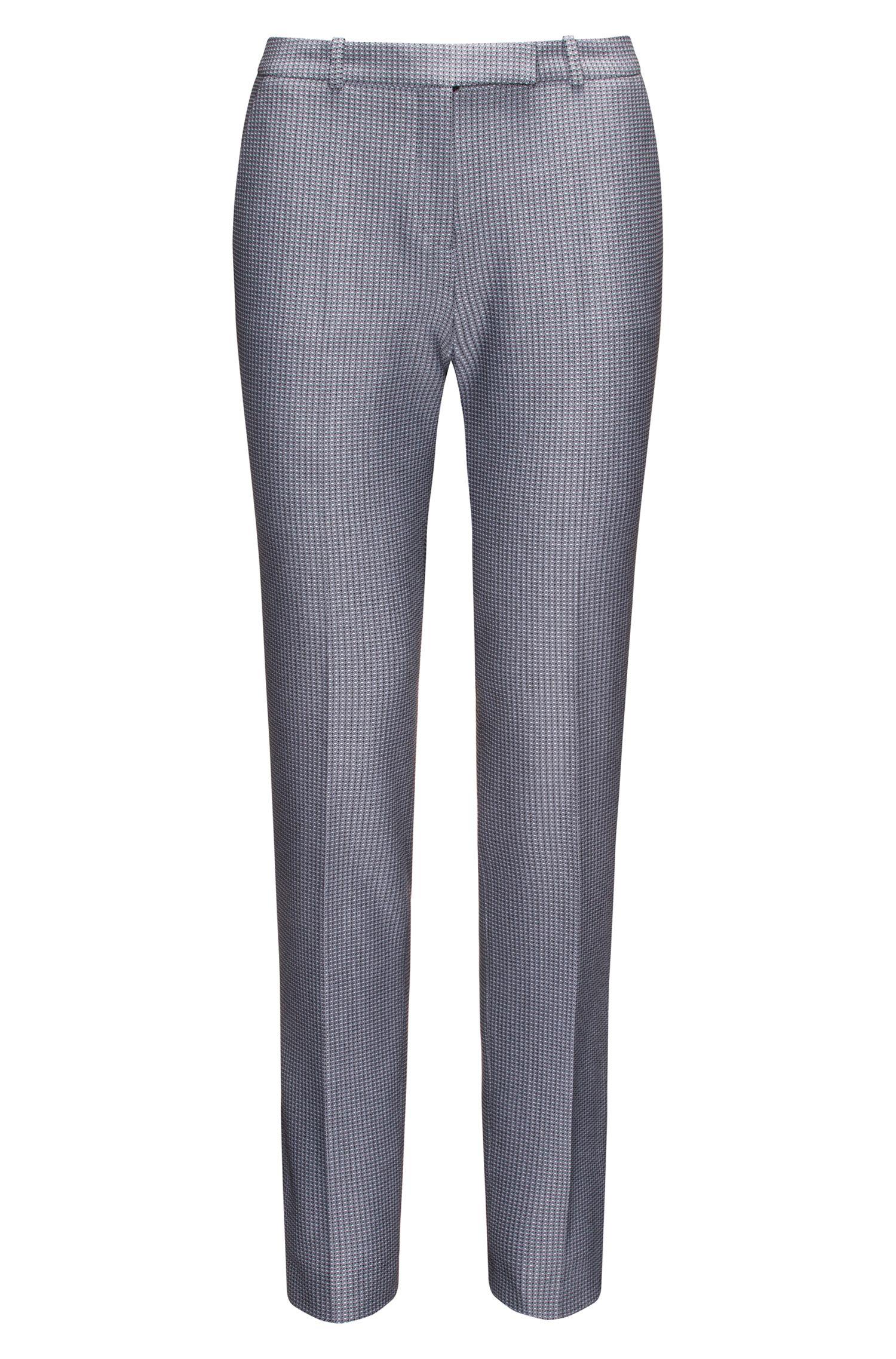 Pantalon cigarette Regular Fit en tissu de poids moyen