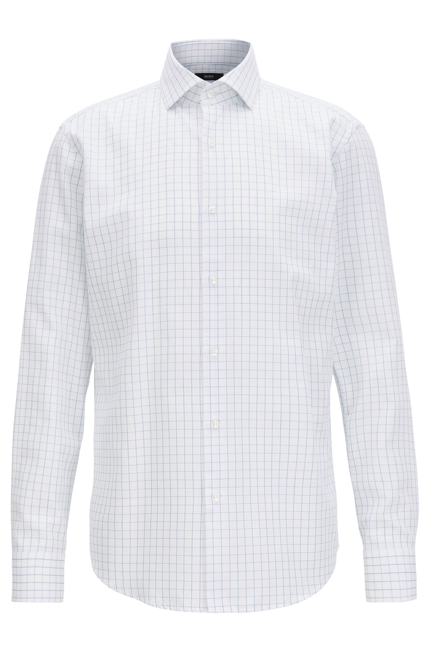 Checked cotton shirt in a regular fit