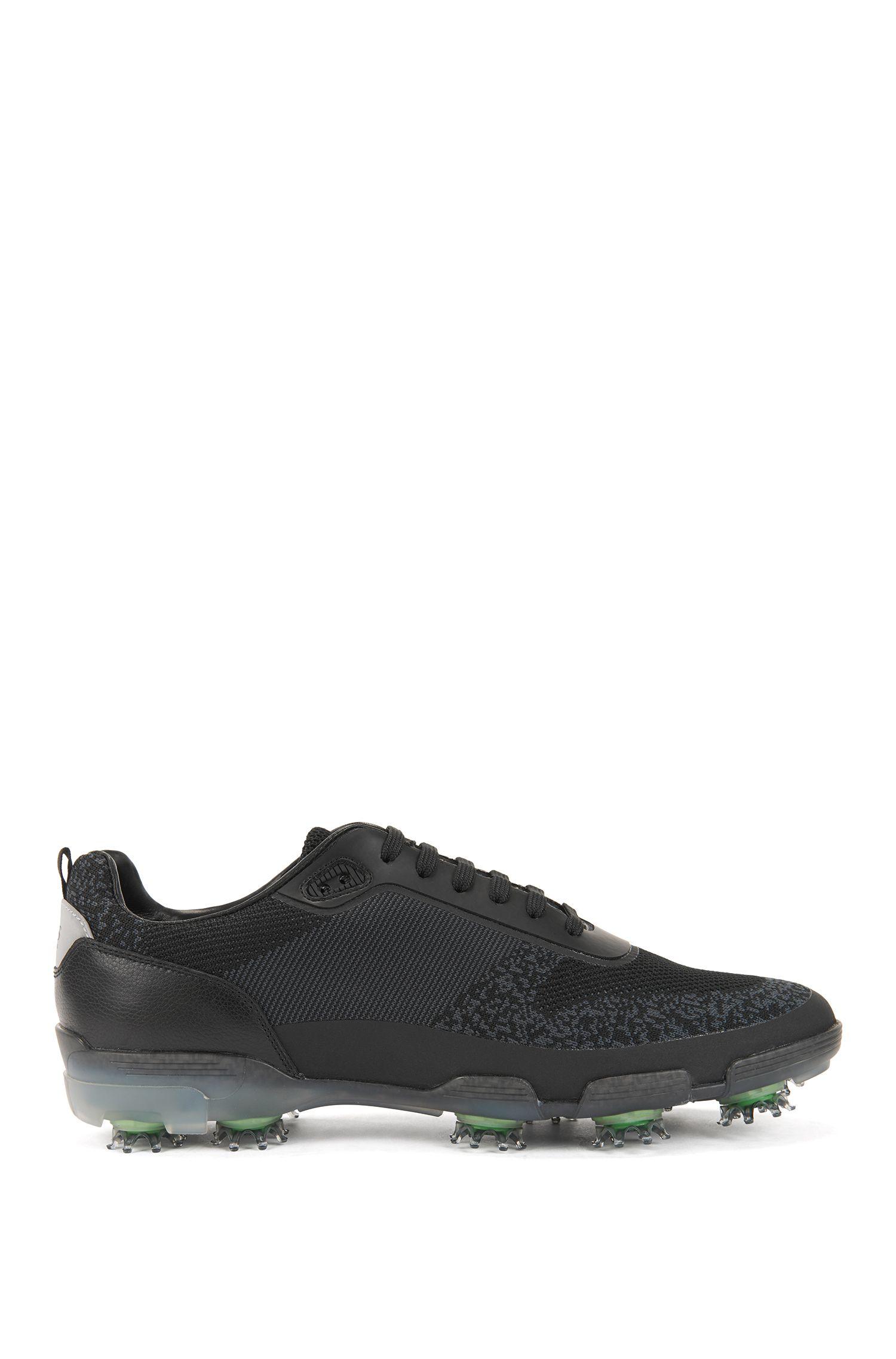 Scarpe da golf leggere in tessuto jacquard resistente all'acqua