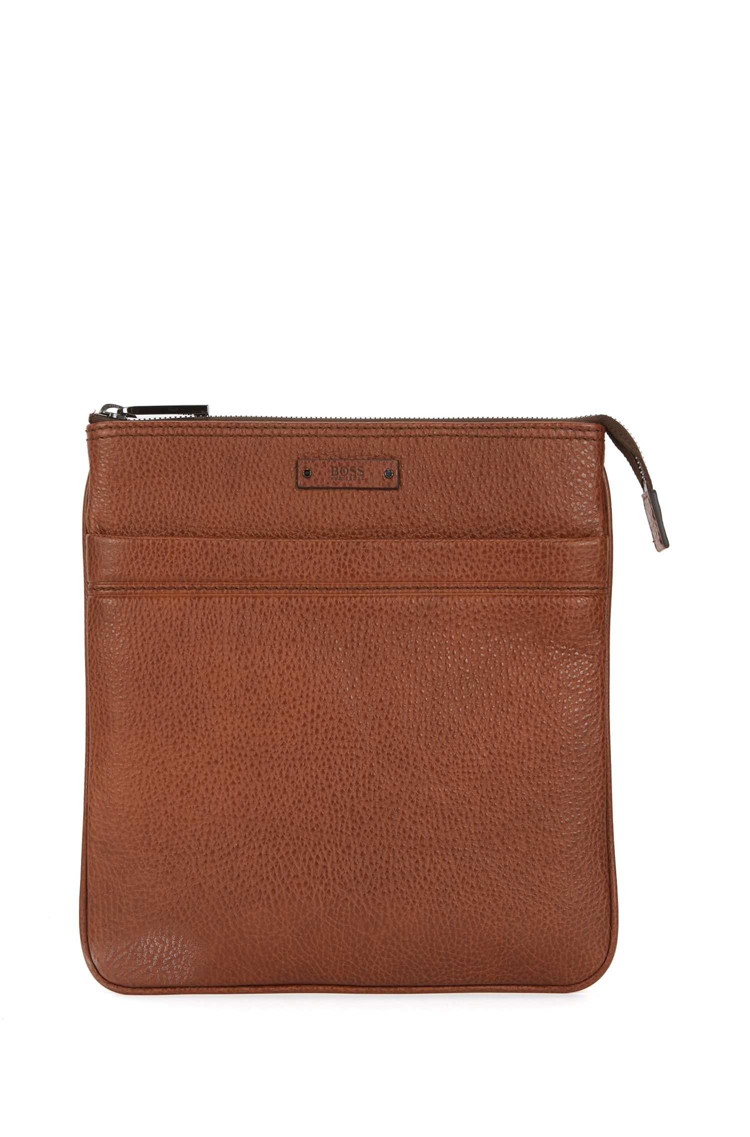 Cross-body envelope bag in grainy Italian leather