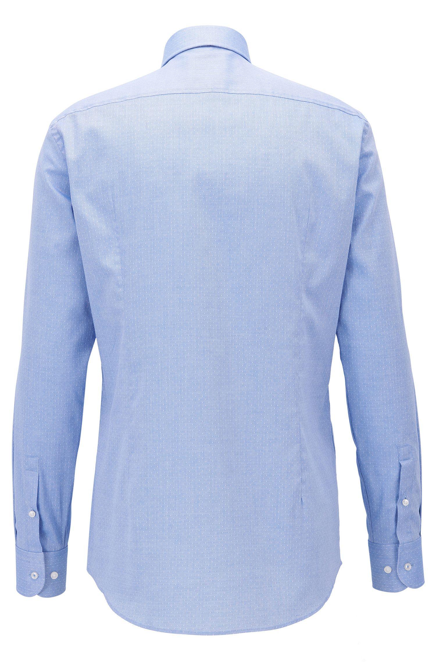 Slim-fit overhemd van in Italië vervaardigde dobbykatoen