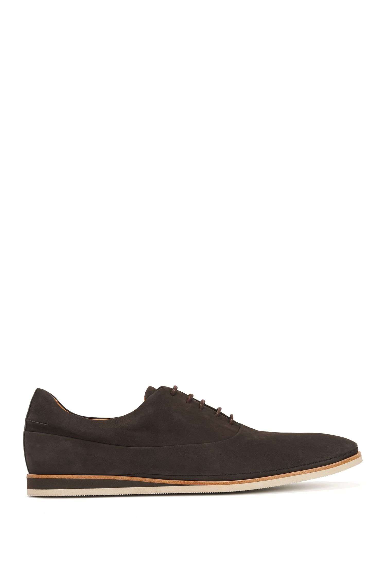 Casual Oxford shoes in soft nubuck