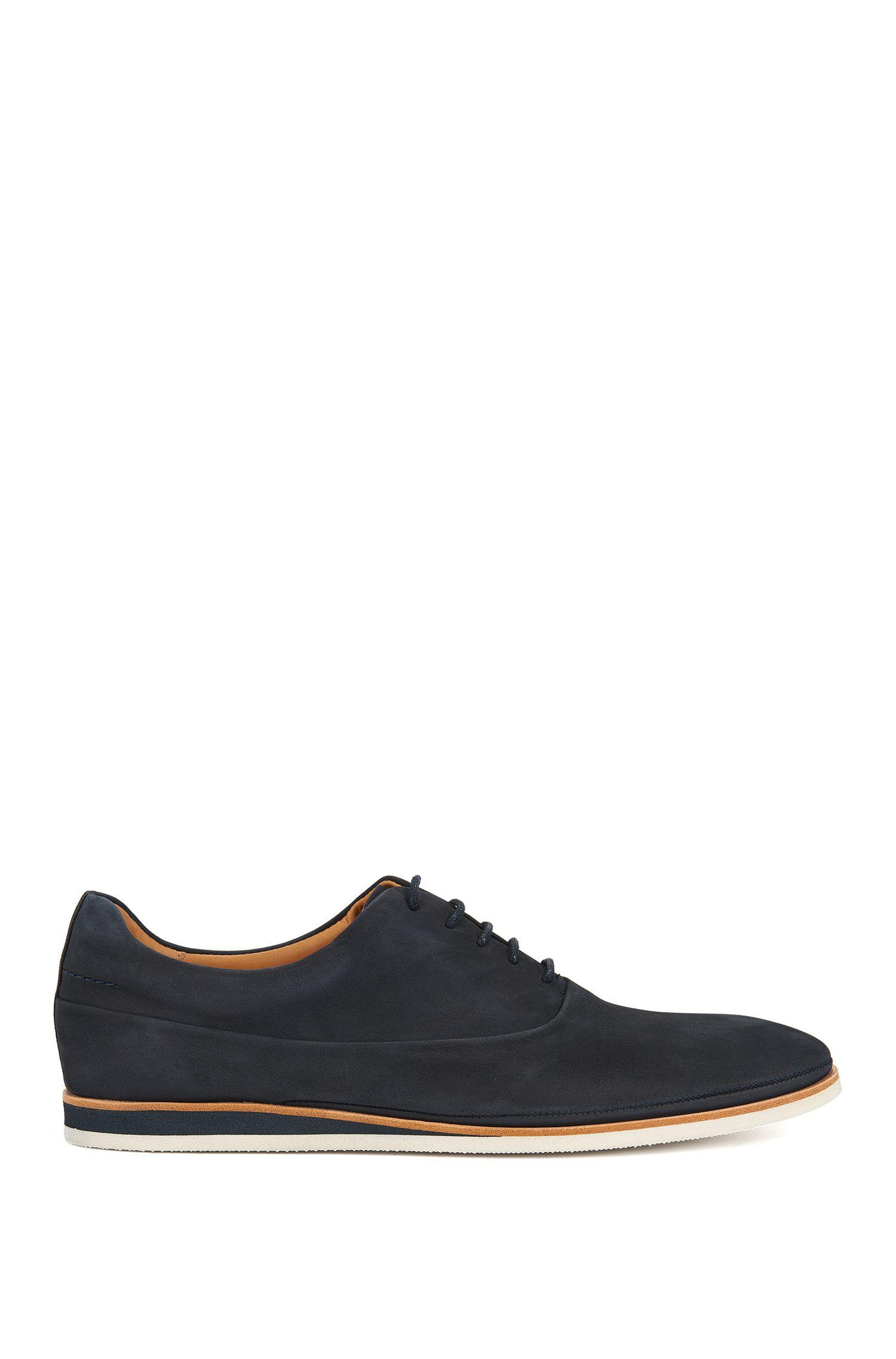Chaussures Oxford casual en nubuck doux