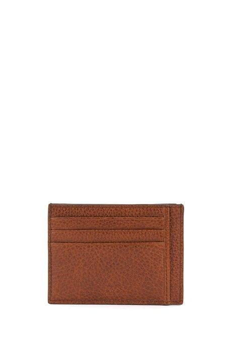 Card holder in grained Italian leather HUGO BOSS os40AZDbQS