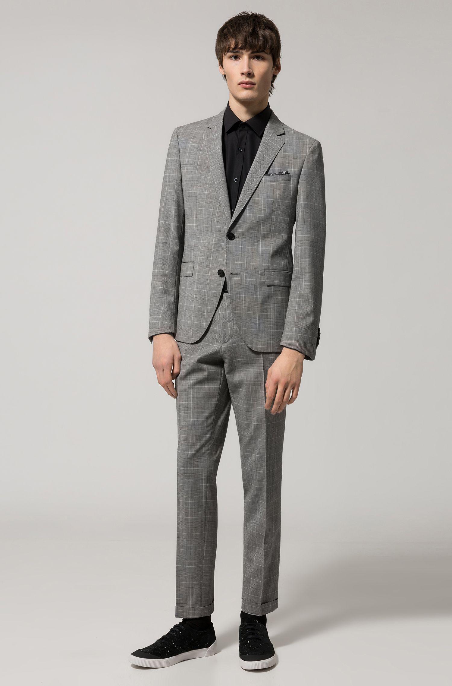 Costume Extra Slim Fit en laine vierge, à motif prince-de-galles