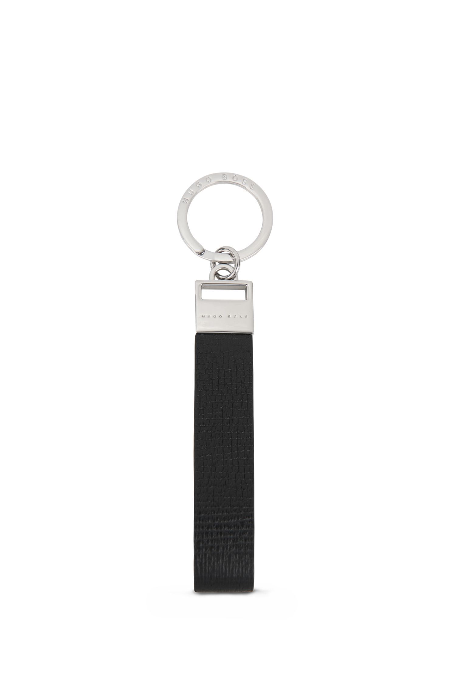 Key ring in printed calf leather