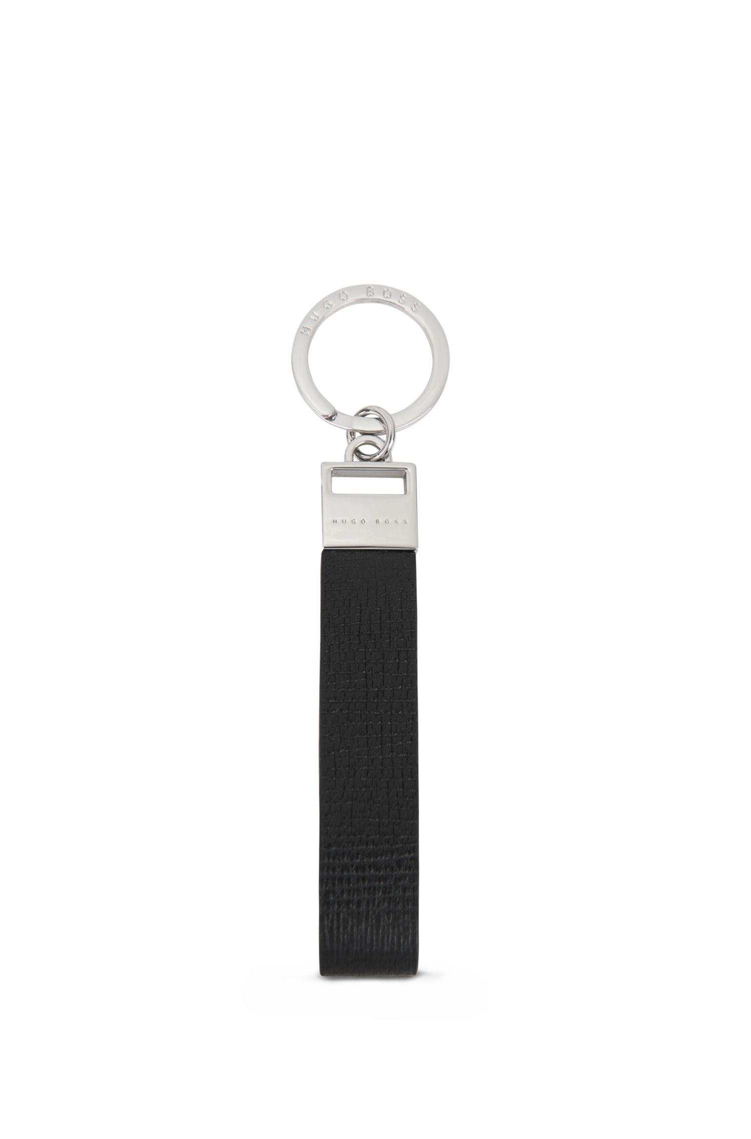 Porte-clés en cuir de veau imprimé