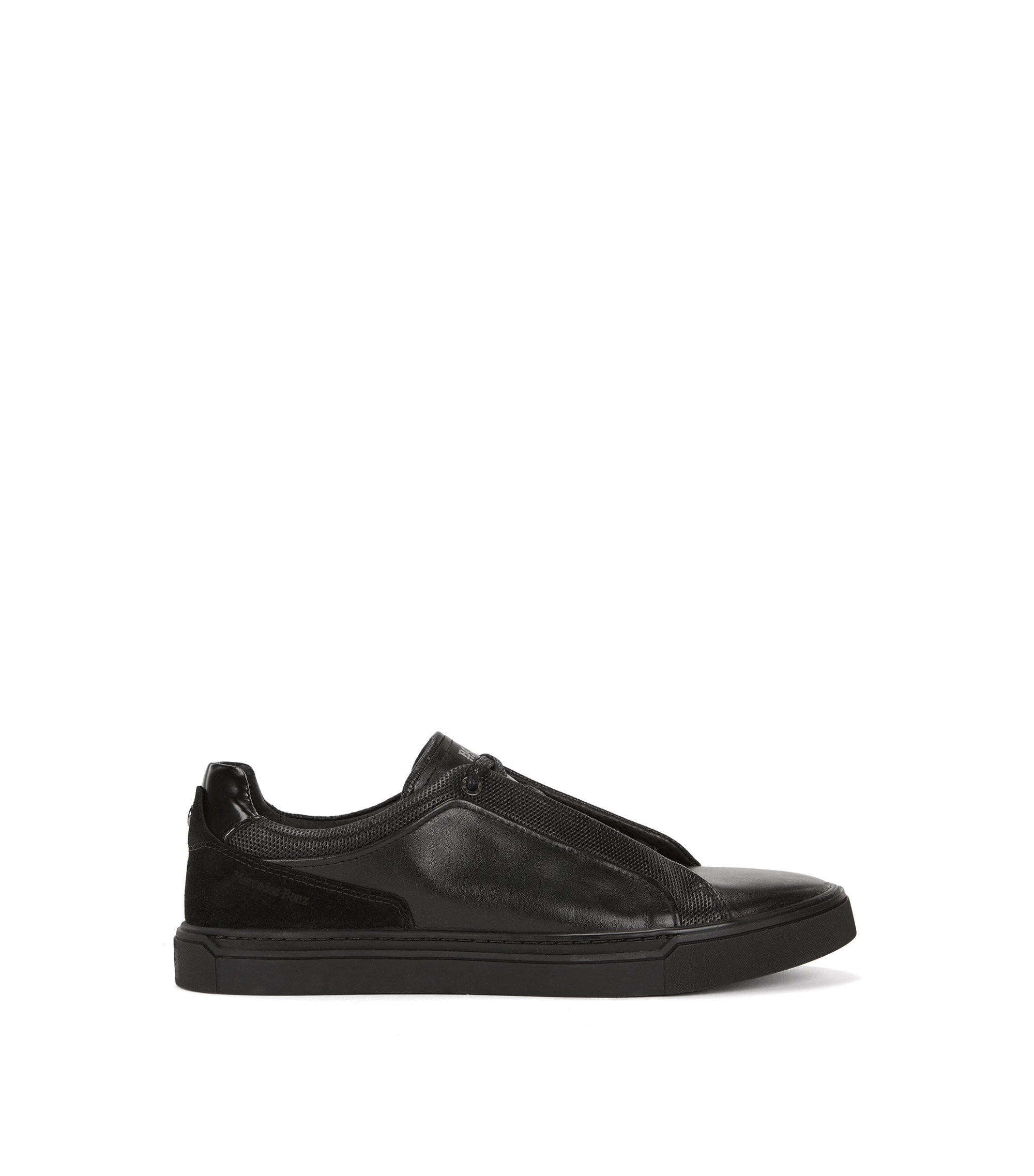 Mercedes-Benz sneakers in leather and suede, Black