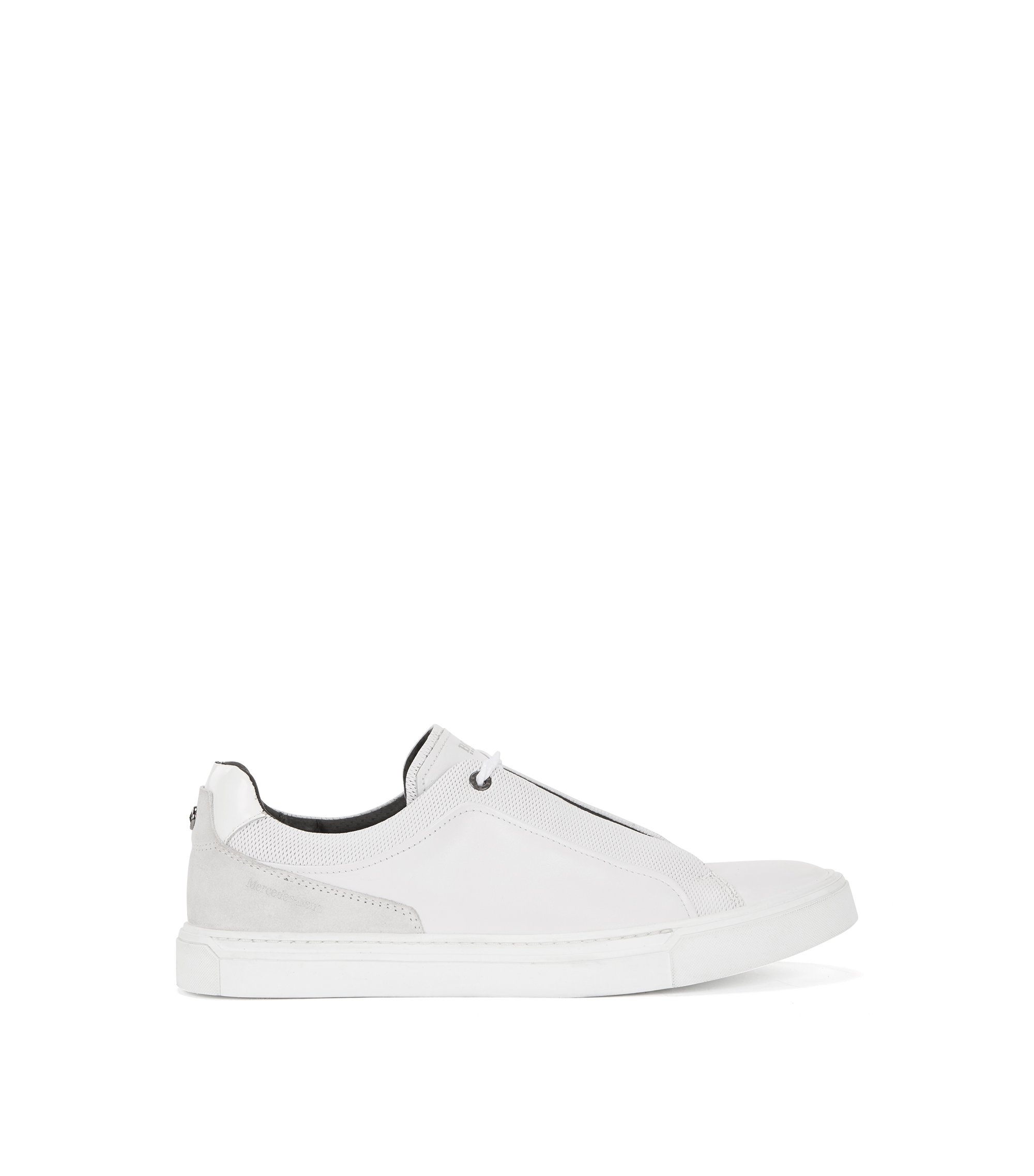 Mercedes-Benz sneakers in leather and suede, White