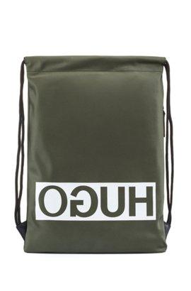 HUGO BOSS Sac à dos en gabardine de tissu technique avec garnitures en métal couleur acier brossé oiCyq