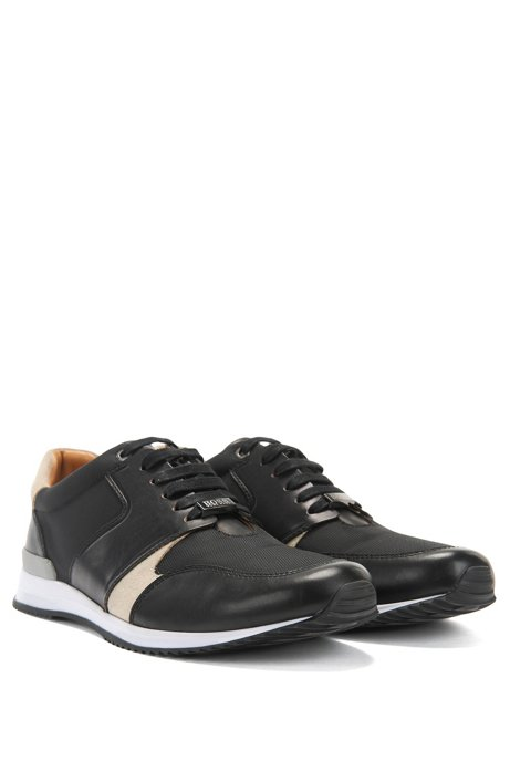 Running-inspired trainers with leather uppers BOSS N2cnW