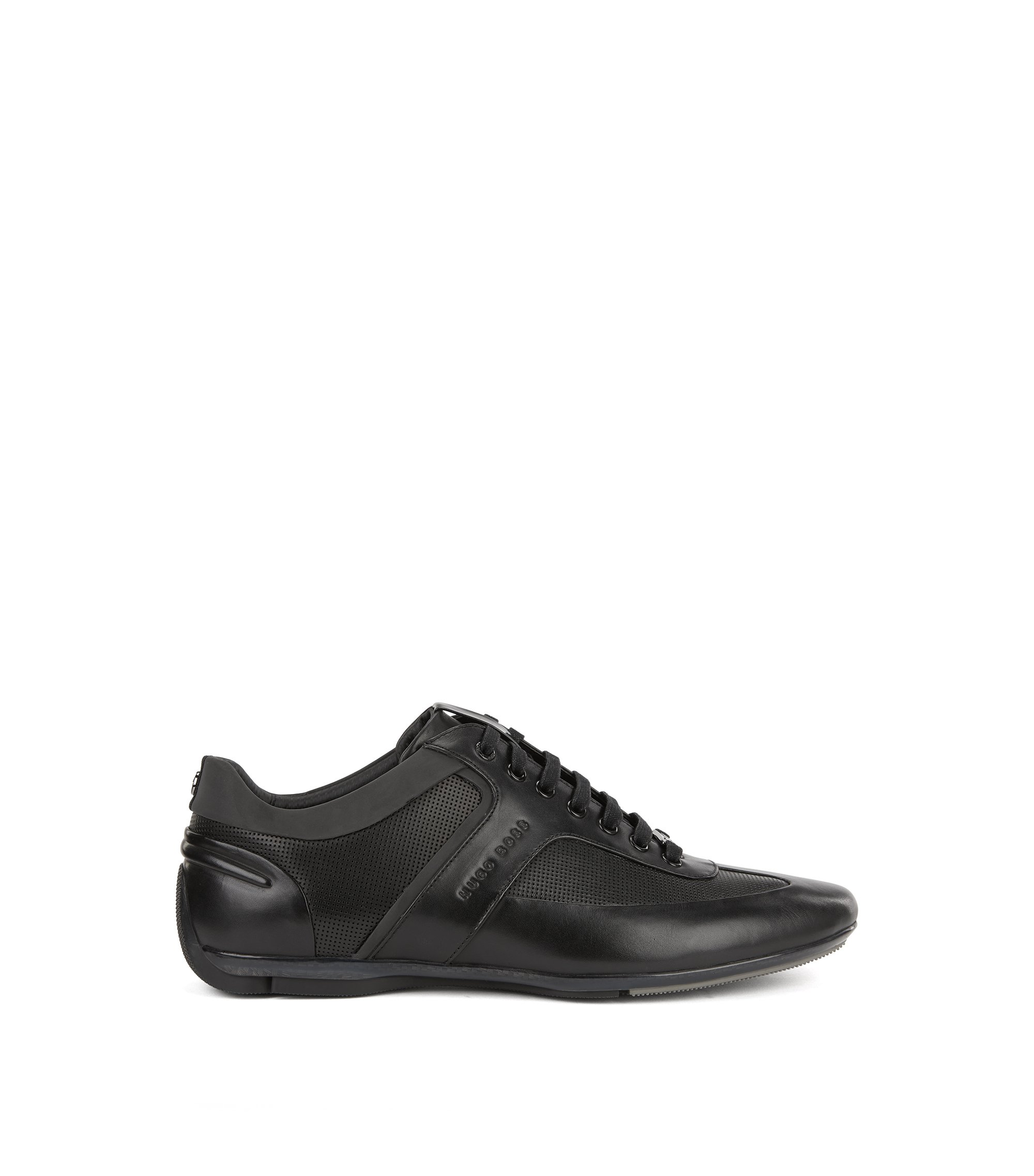 Mercedes-Benz sneakers with contrast leather detail, Black
