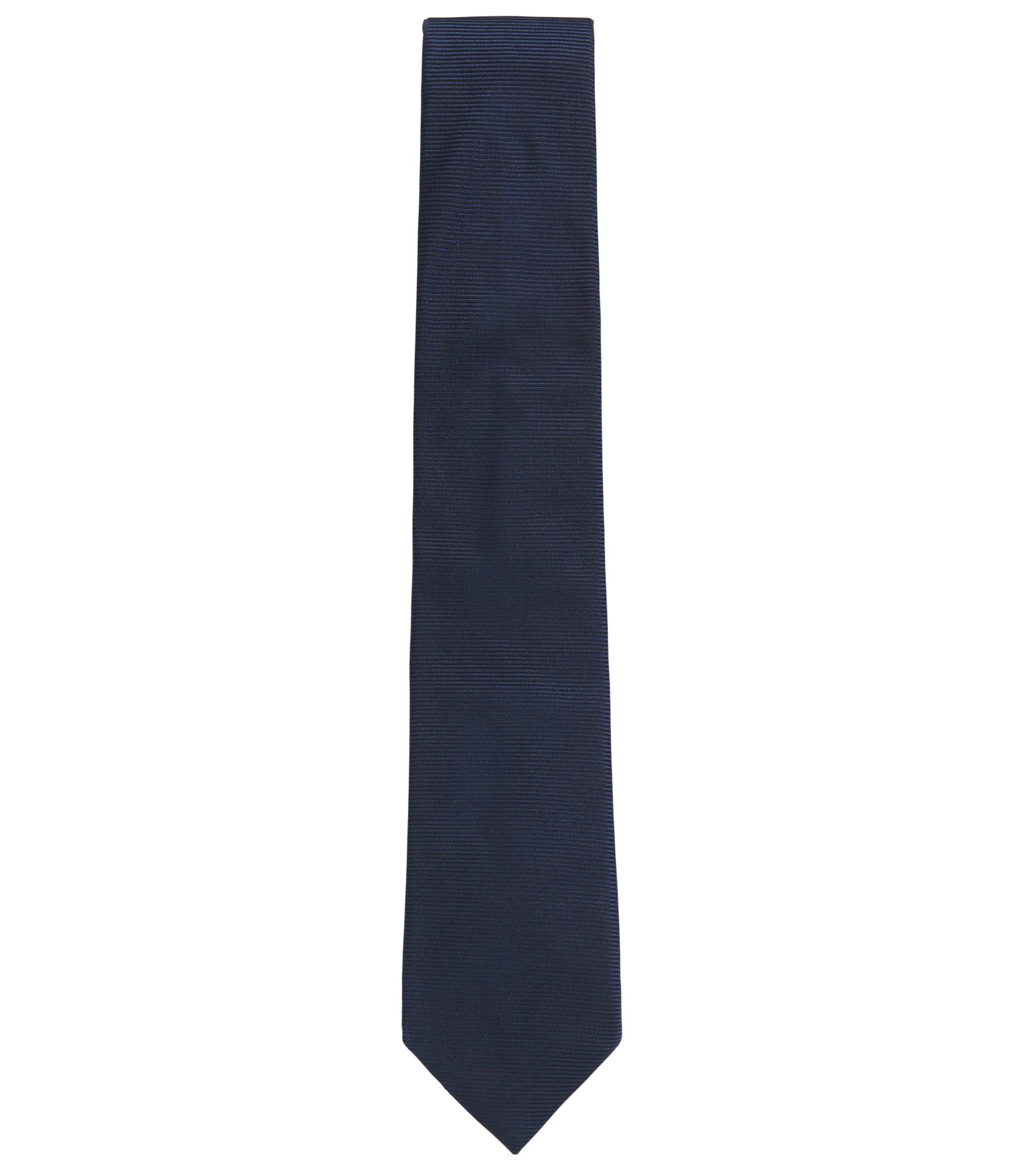 Italian silk-jacquard tie, Dark Blue
