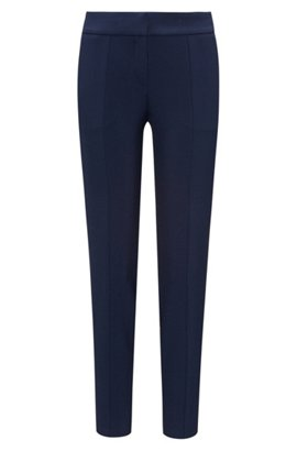 Regular-fit cropped trousers in soft stretch crepe BOSS Affordable Cheap Price The Cheapest Sale Online cSvoTlTz