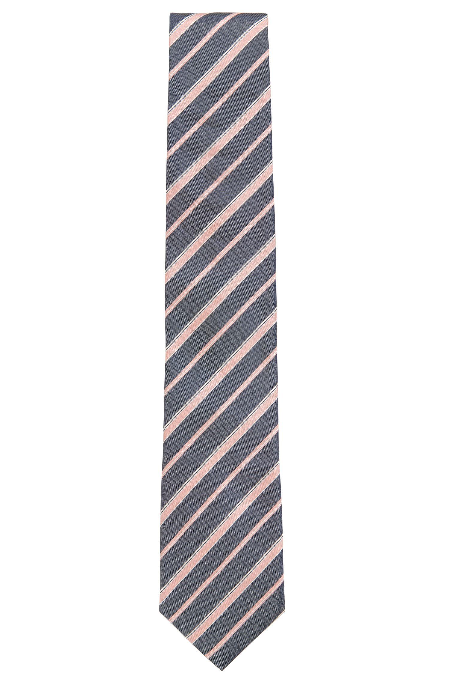 In Italië vervaardigde stropdas in een jacquard van zijde met diagonaal streepdessin