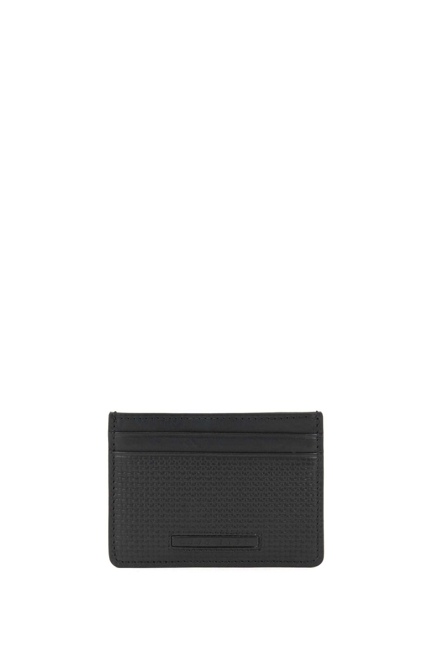 Bifold wallet and card holder gift set in embossed leather
