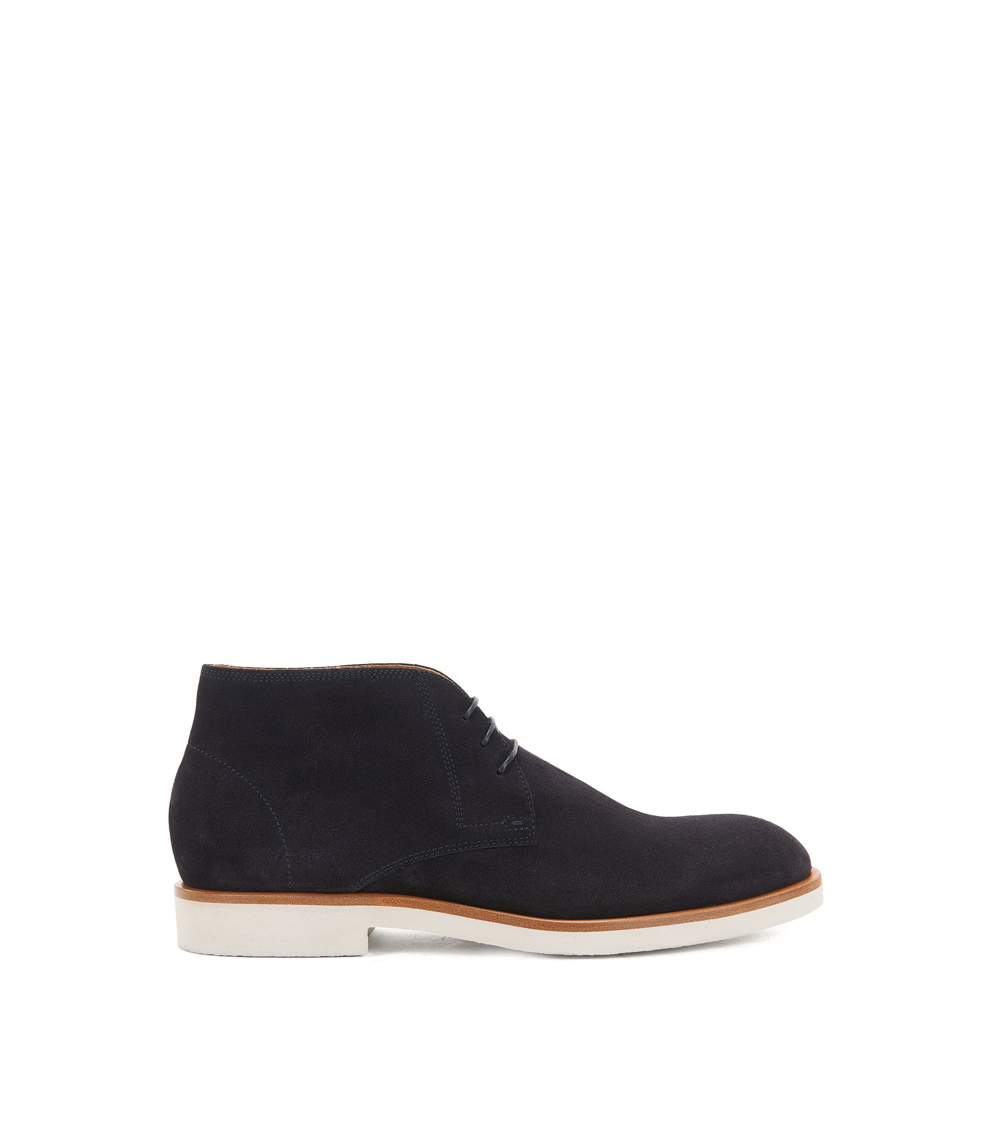 Suede desert boots on a crêpe sole, Dark Blue