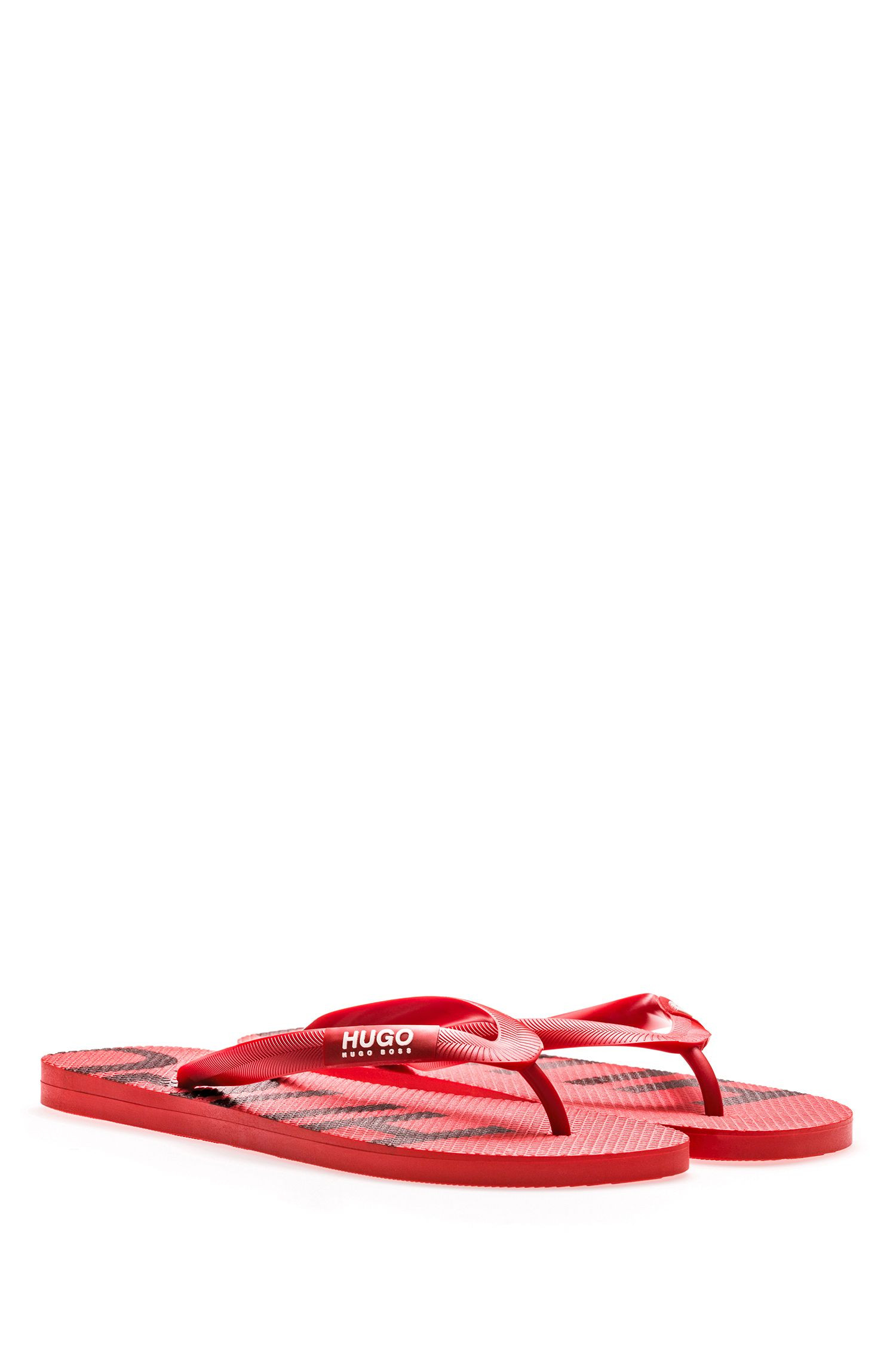 Lightweight flip-flops with branded sole